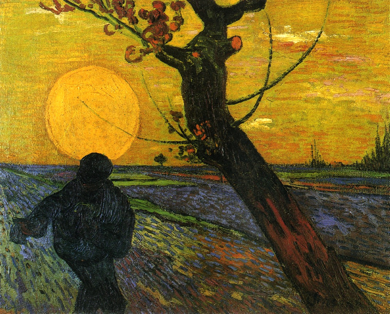 Vincent Vangogh,  The Sower , 1888
