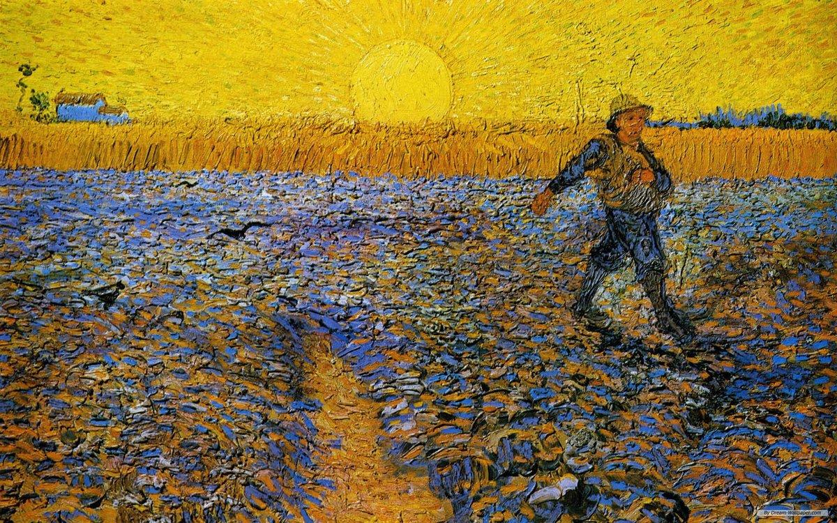 Vincent Vangogh,  The Sower , 1888