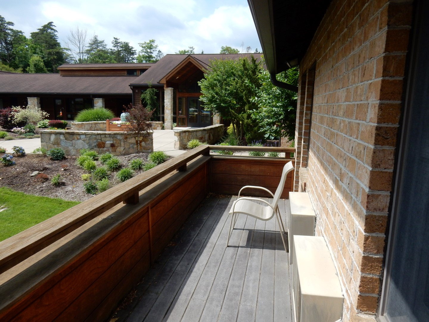 Each room has its own balcony and there are many places on the property (including walking trails) for quiet reflection.