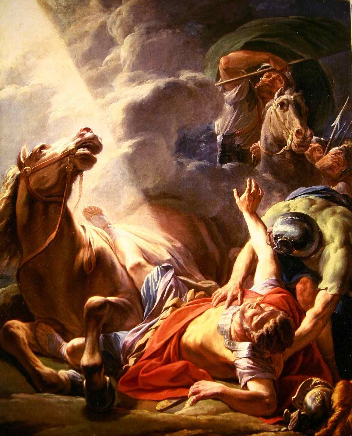 Paul's conversion by Nicolas Bernard Lepicie (1767)