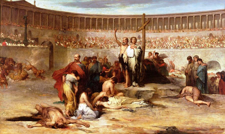 Triumph of Faith: Christian Martyrs in the Time of Nero, 65 A.D. by Eugene Romain Thirion (1839-1910)