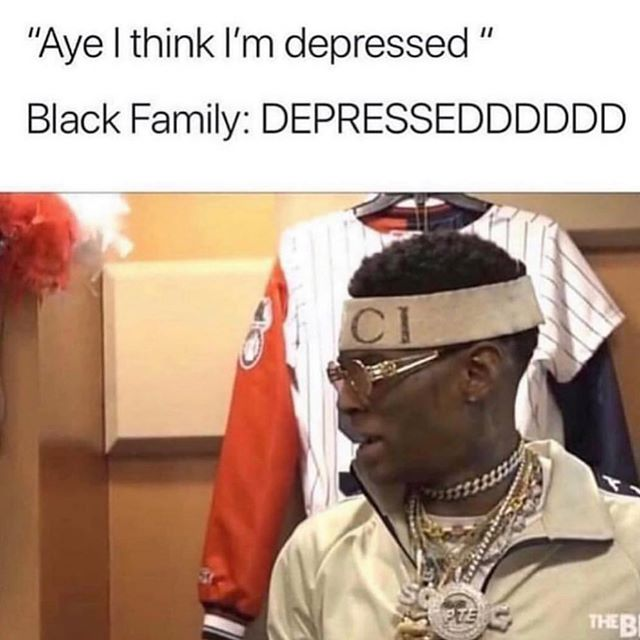 """Listen 👂🏾 Can we start normalizing the conversation about mental health with our families? Yes, we know we have a """"roof over our head"""" and """"clothes on our back"""", but it does not mean that we cannot experience depression or anxiety ☝🏾 . . #MentalHealthAwarenessMonth #MentalHealth #DestigmatizeMentalIlness #BlackMentalHealth #CheckinwithYourself #FeelYourFeelings #Blackfamilies #Souljaboy"""