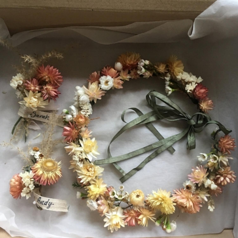 Flower Crown & Buttonholes