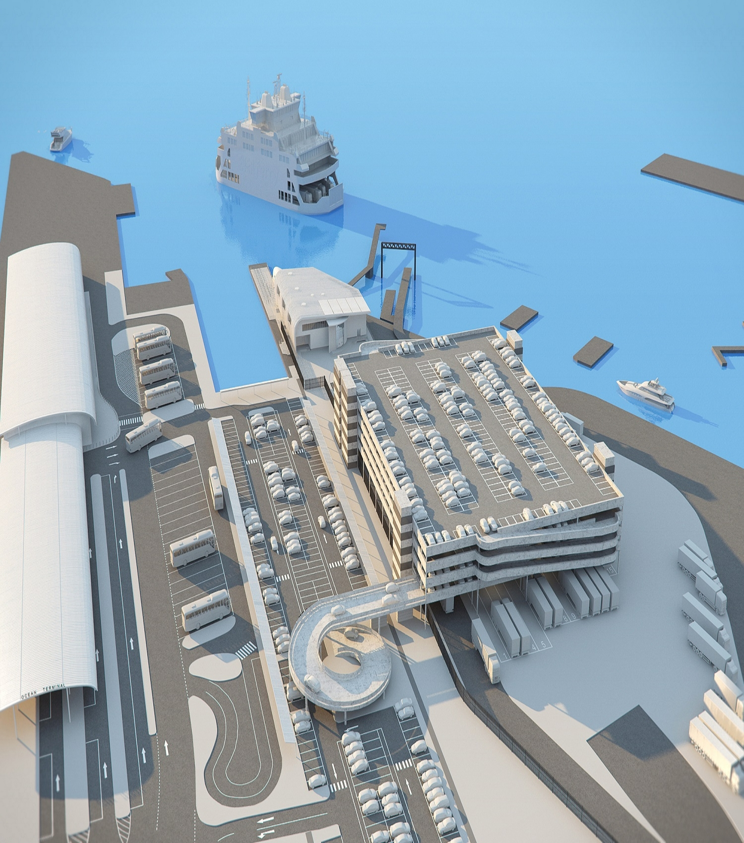 Concept animation for a planning applcation trafalgur dock Southampton