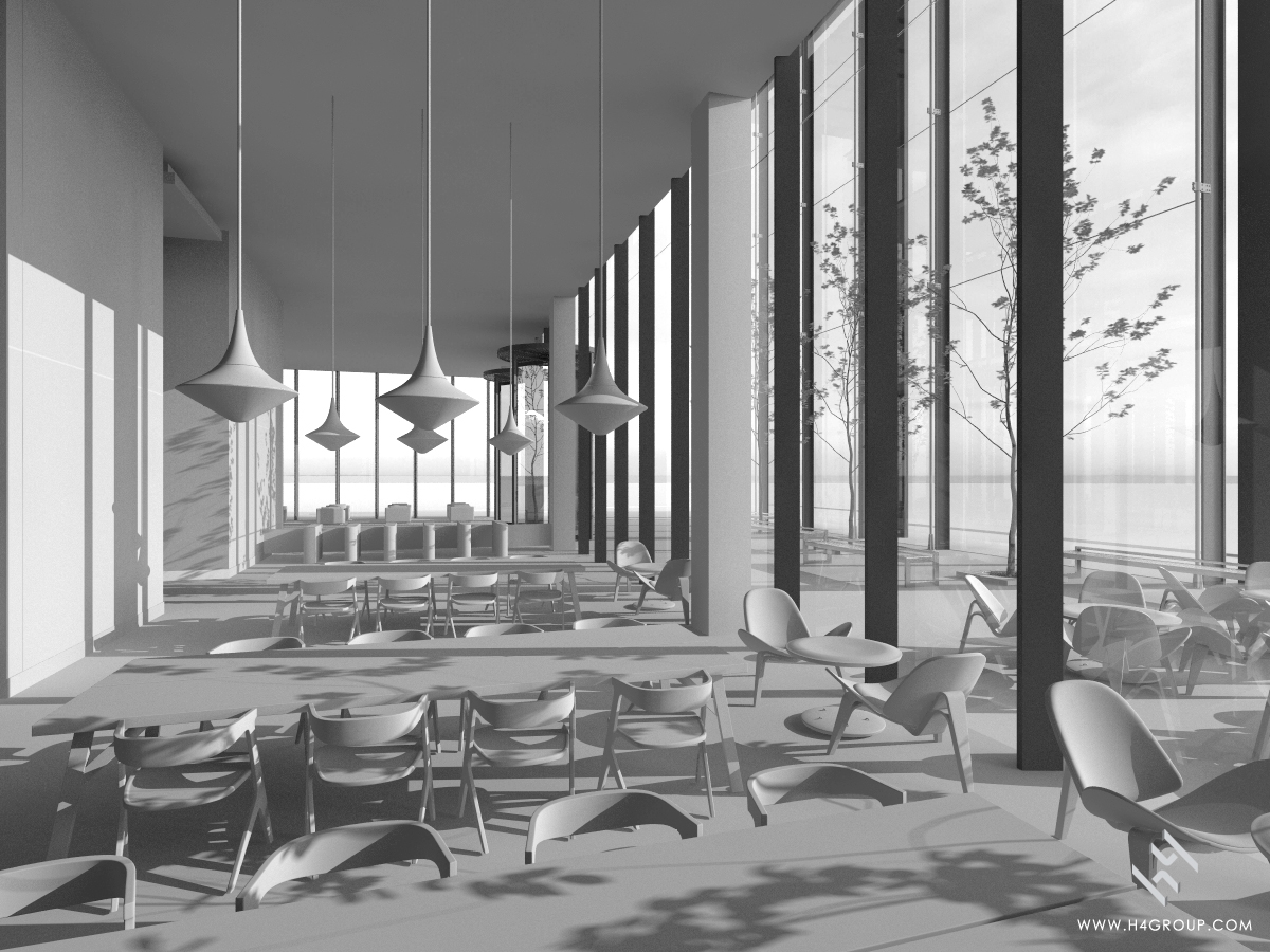 If the colours are not there sometimes black and white CGI helps to get the space and volume designs understood.
