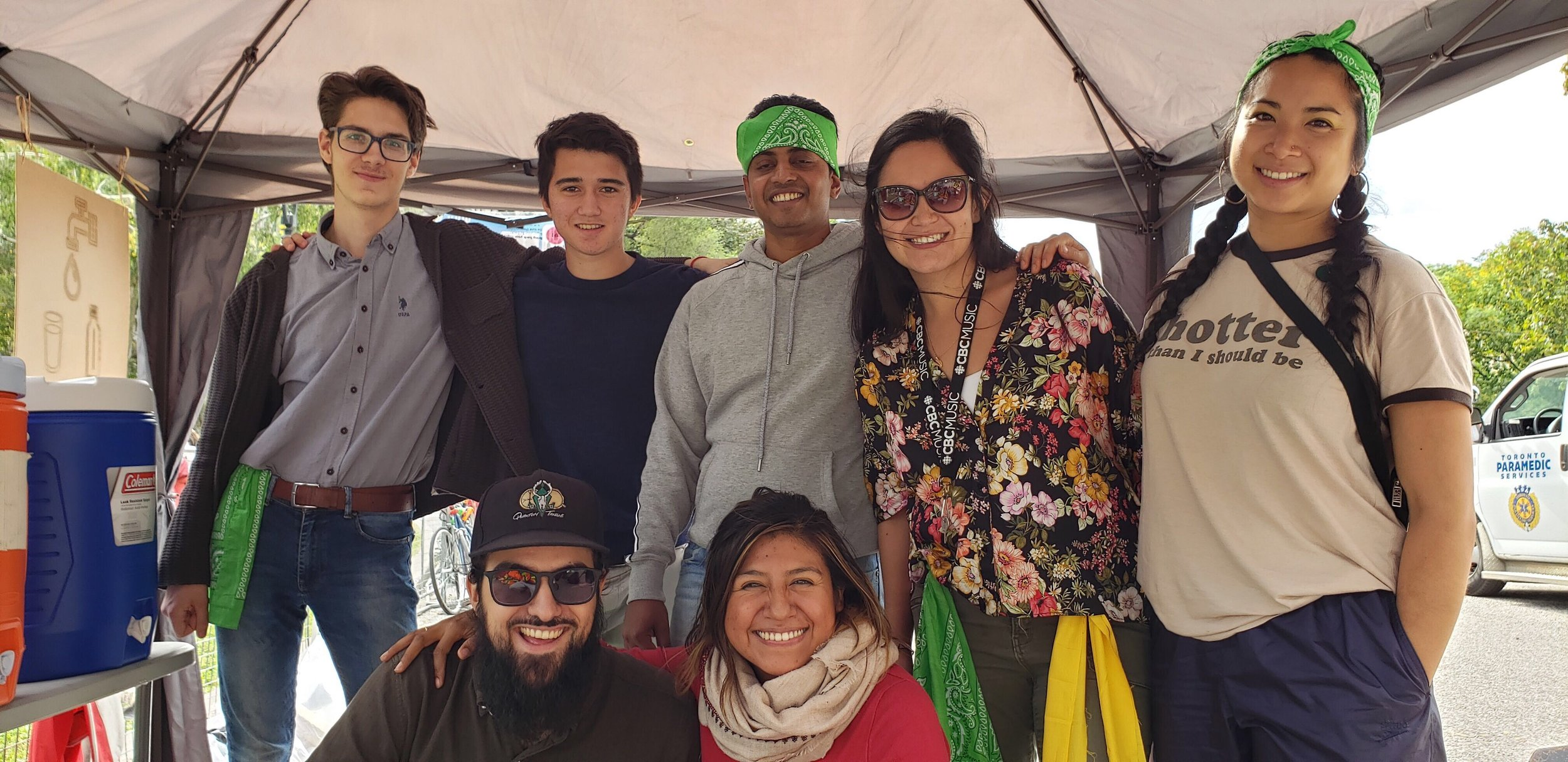 Top row (left to right): Daniel Iaskelevich, Gareth Jones, Vinod Sankarshanan, Suanny Aranguren, Rachel Wang. Bottom row (left to right): James Arruda and Erika Reyes. Green Team members missing from photo: Samaneh Goodarzirad, Annie Yang, Chang hoon Lee and Isha Varma.