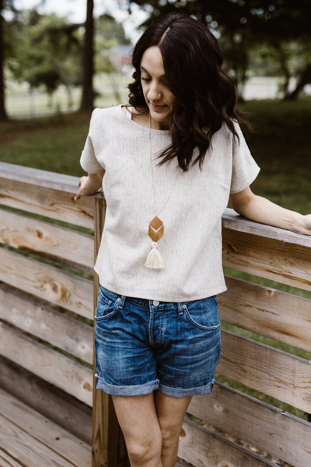 Wearing: Two Fold Clothing Krissy Tee and Sela Designs Belle Necklace