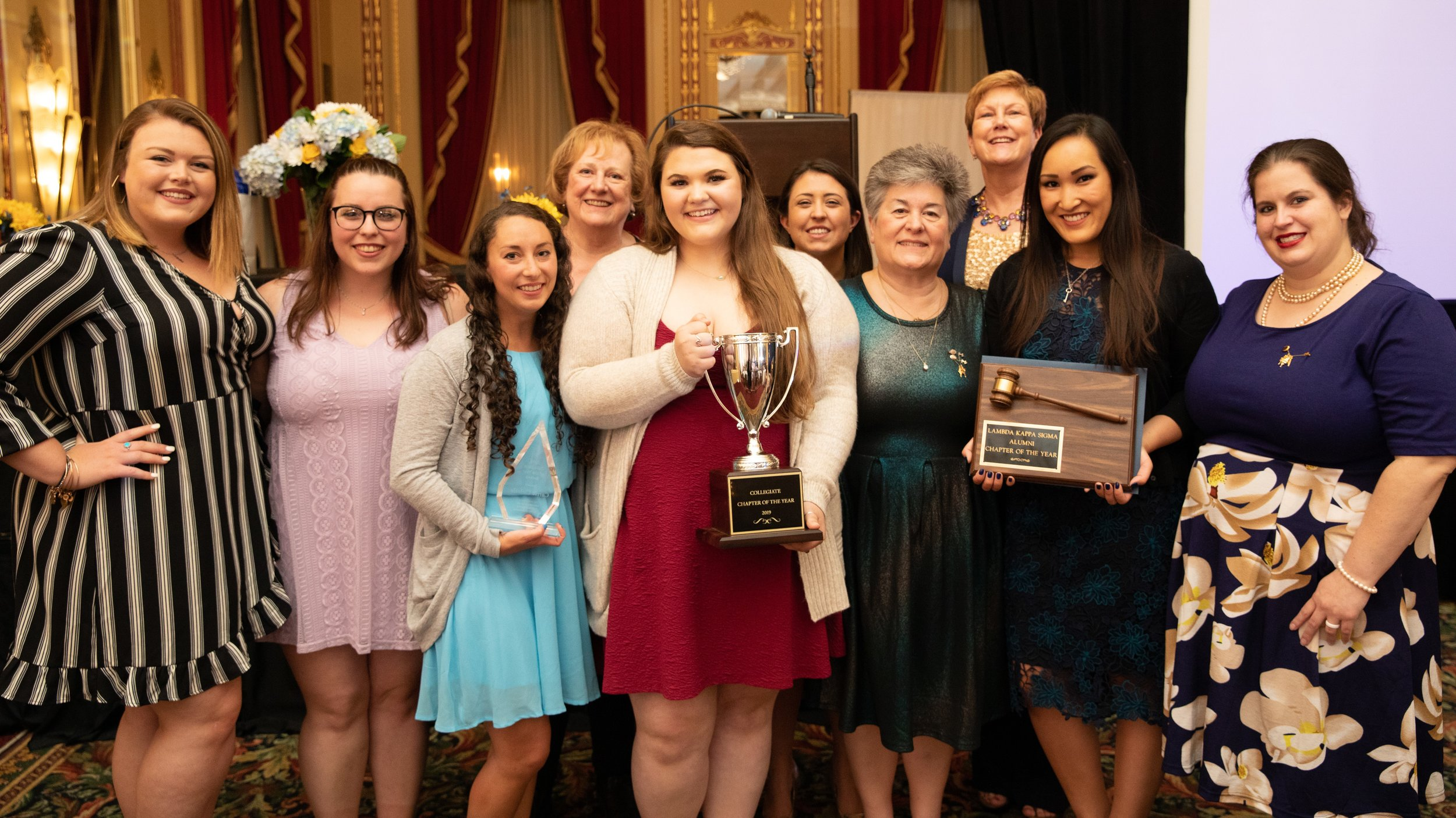 LKS Alpha Zeta won Collegiate and Alumni Chapters of the Year at the 2019 Convention in Milwaukee, WI. Recent graduate Carrie Cicirale was also honored with the 2019 Collegiate of the Year award. A GREAT year for Alpha Zeta!