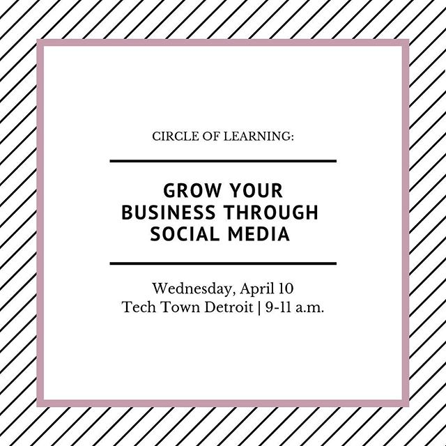 Morning! ⠀ ⠀ Join me and @makilane for an interactive workshop on social media marketing best practices Wednesday, April 10 at @techtowndetroit from 9-11 a.m. ⠀⠀ ⠀⠀ Bring your laptop or tablet and questions you have about promoting your business and yourself on social media. ⠀⠀ ⠀⠀ Tickets: $20 Member Registration   $35 Non-Member Registration. ⠀⠀ ⠀⠀ Registration includes continental breakfast.⠀⠀ ⠀⠀ Hosted by @nawbogdc. ⠀⠀ ⠀⠀ For details and to purchase your ticket, link is in the bio.⠀ ⠀⠀ See you there! ⠀⠀ ⠀ -Jennifer ⠀ ⠀ ⠀ #CleverMe #Detroit #solopreneurs #marketing #startup #entrepreneurship #business #smallbusiness #blackbusinesswomen #blackbusinesses #businesswoman #businessowner #girlboss #entrepreneurlife ⠀ ⠀