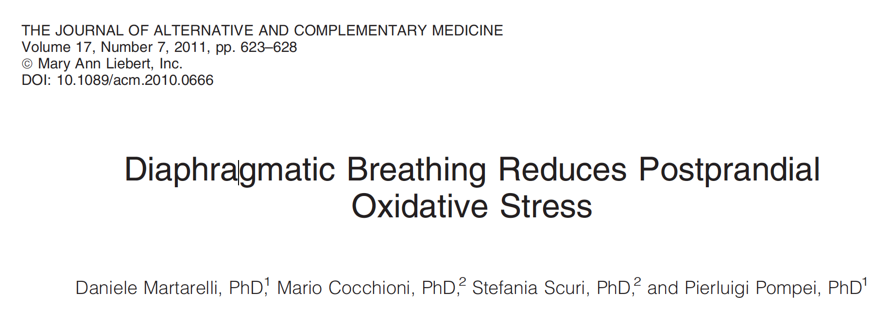 - Diaphragmatic breathing increases insulin, lowers blood sugar, and reduces oxidative stress
