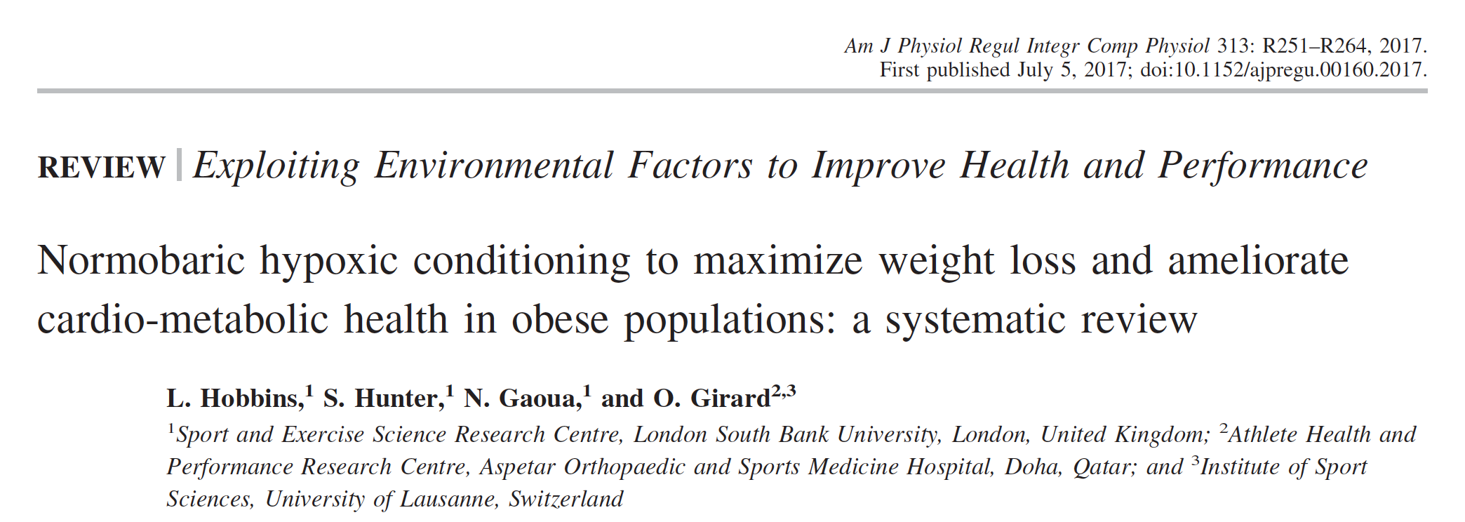 - Hypoxia has positive impacts on insulin and blood glucose levels while also increasing energy expenditure