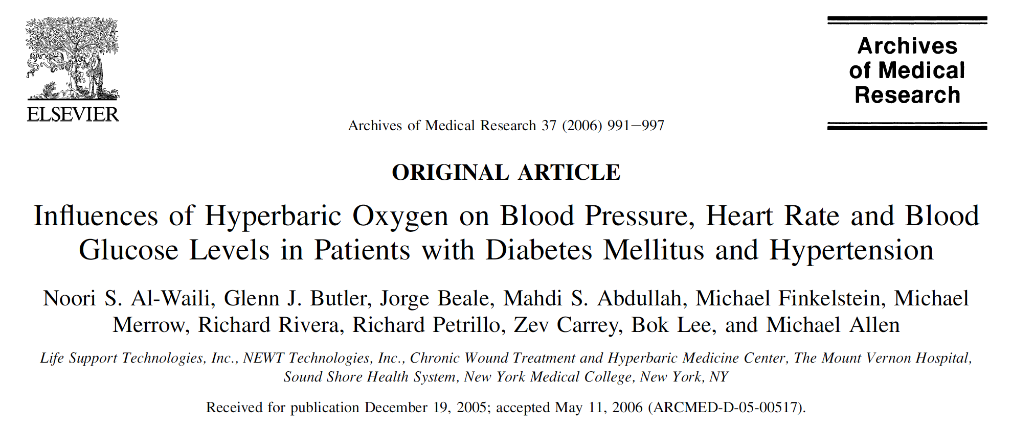 - Hyperbaric oxygen significantly lowers blood sugar in diabetic subjects