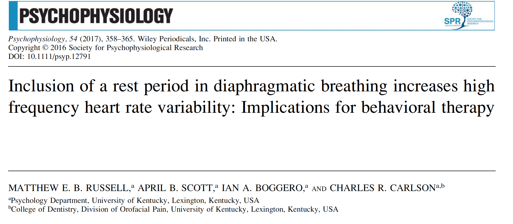 - Breathe slowly (and pause) to improve heart rate variability