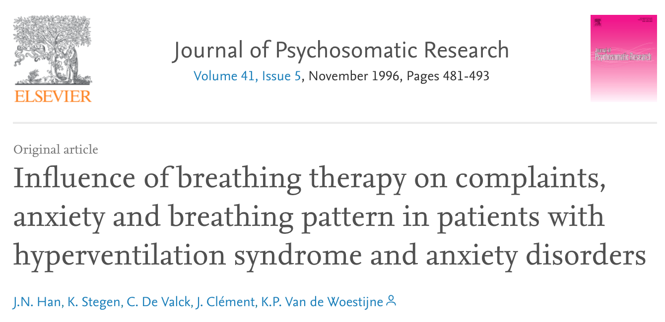 - Slow, controlled breathing improves anxiety independent of CO2