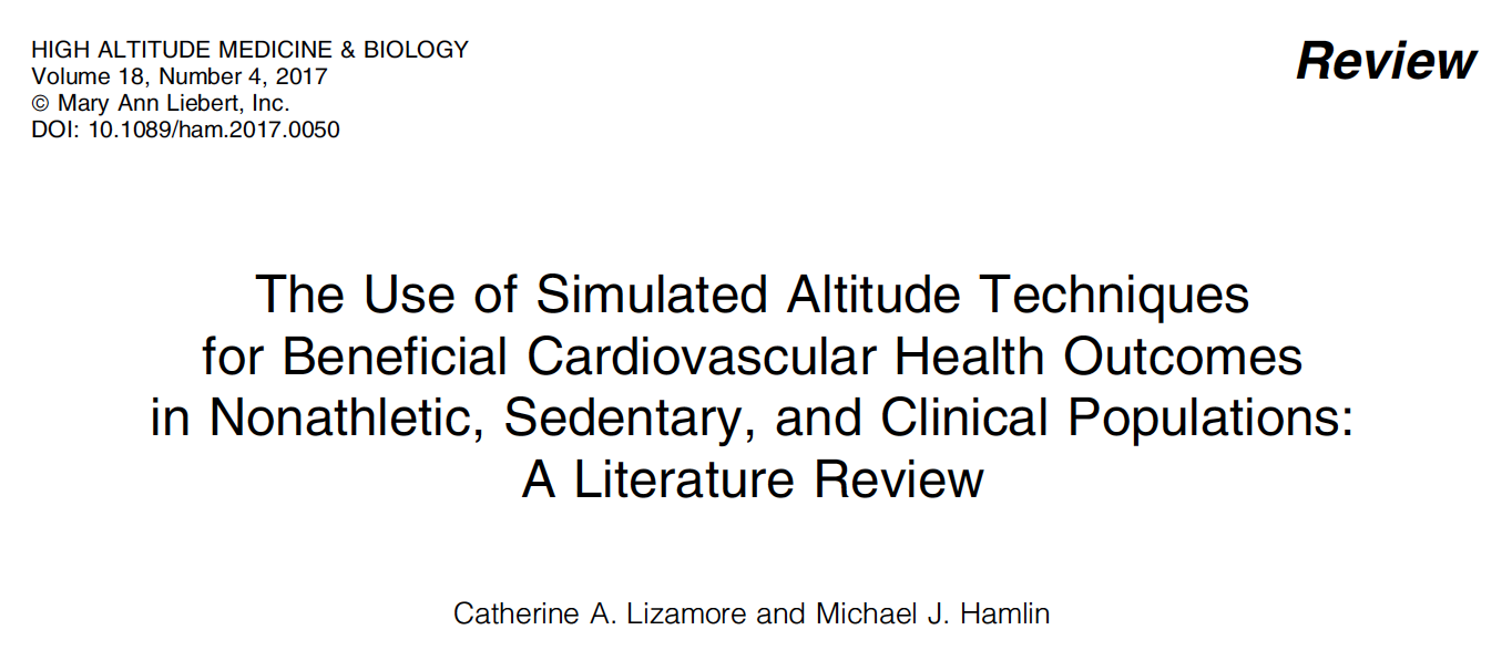 - Intermittent hypoxia is beneficial in sedentary, non-athletic, and clinical populations.