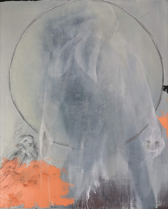 If Death Don't Kill Me, Memory Will, 110 x 90 cm, oil, oil stick and pencil on linen, 2016 - 2018
