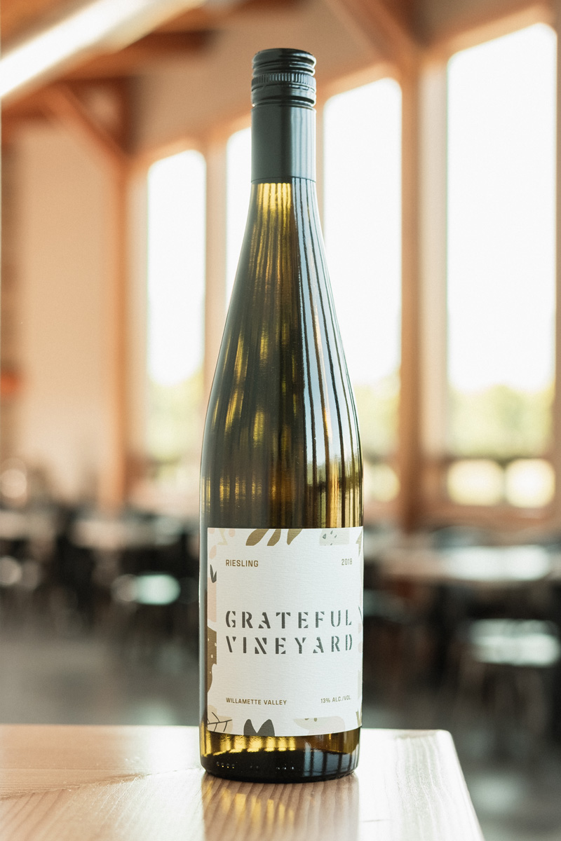 18' Riesling - Grateful Vineyard wine is crafted with care in the Northern Willamette Valley.This wine is fresh, floral and sweet.