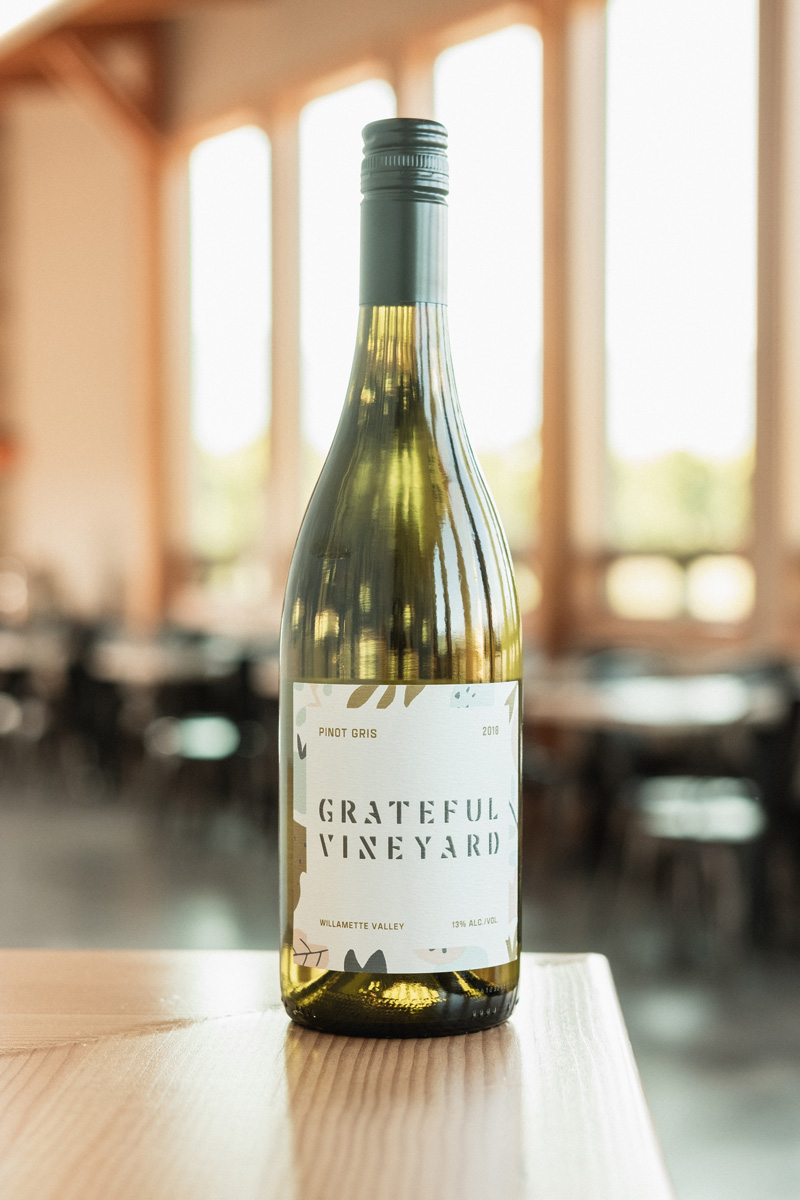 18' Pinot Gris - Grateful Vineyard wine is crafted with care in the Northern Willamette Valley. Our most popular white wine is rich and vibrant, with great texture and mouth feel.