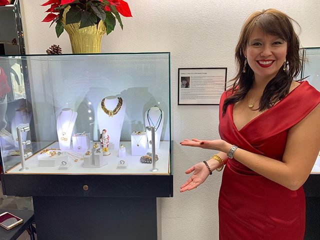 Lei Lee Jewels on display @liz_presleyandcofinejewelers in San Diego! Holiday party time! 📸: @619ndirish #sandiego #presleyandco #femalejewelrydesigners #womensupportingwomen #northparksd #leileejewels