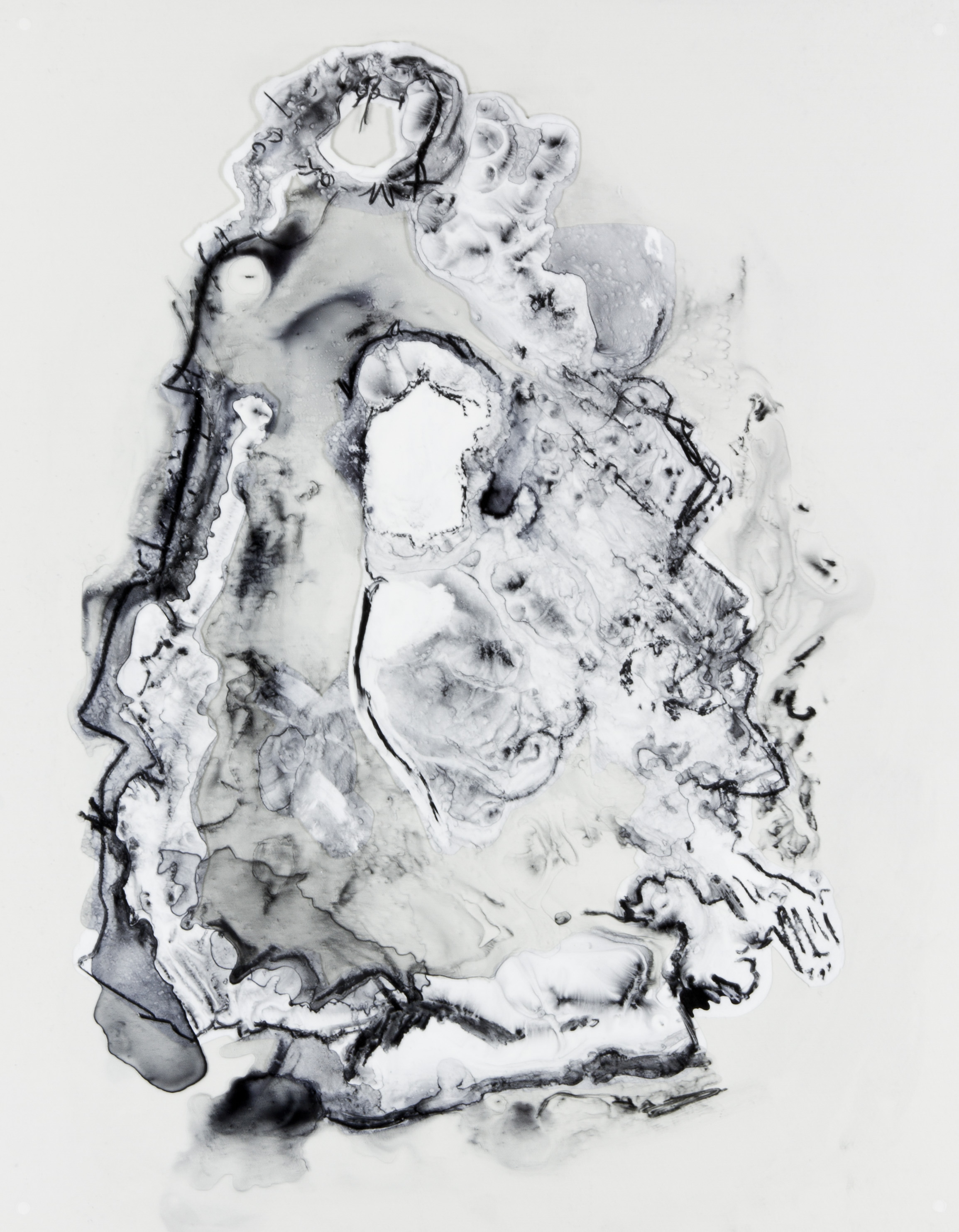 Jug, 2017, 19x24 inches, Watercolor and acrylic on transparent mylar