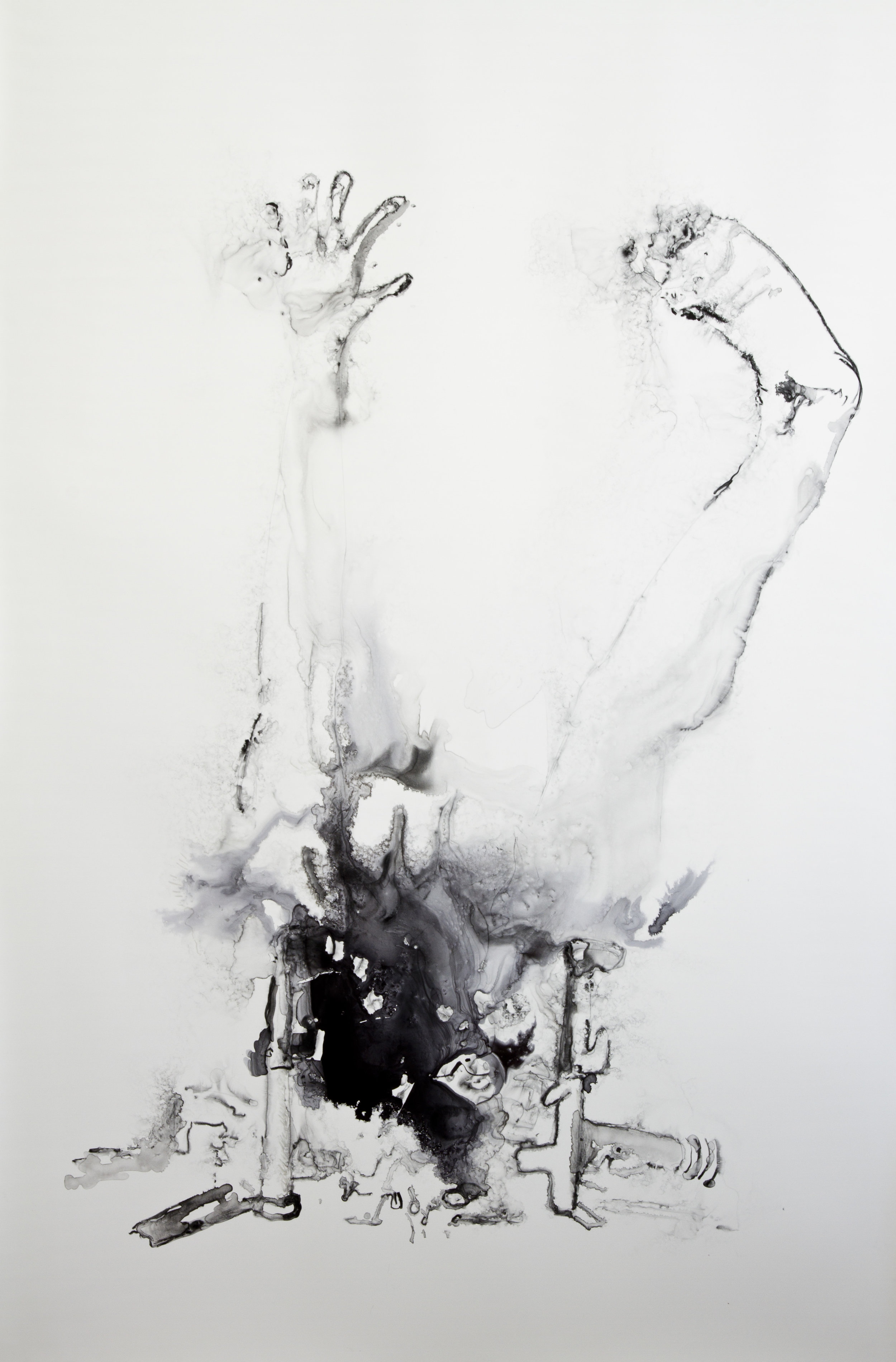 The Hearth as the Heart of the Home, 2016, watercolor on polypropylene, 60x40 inches