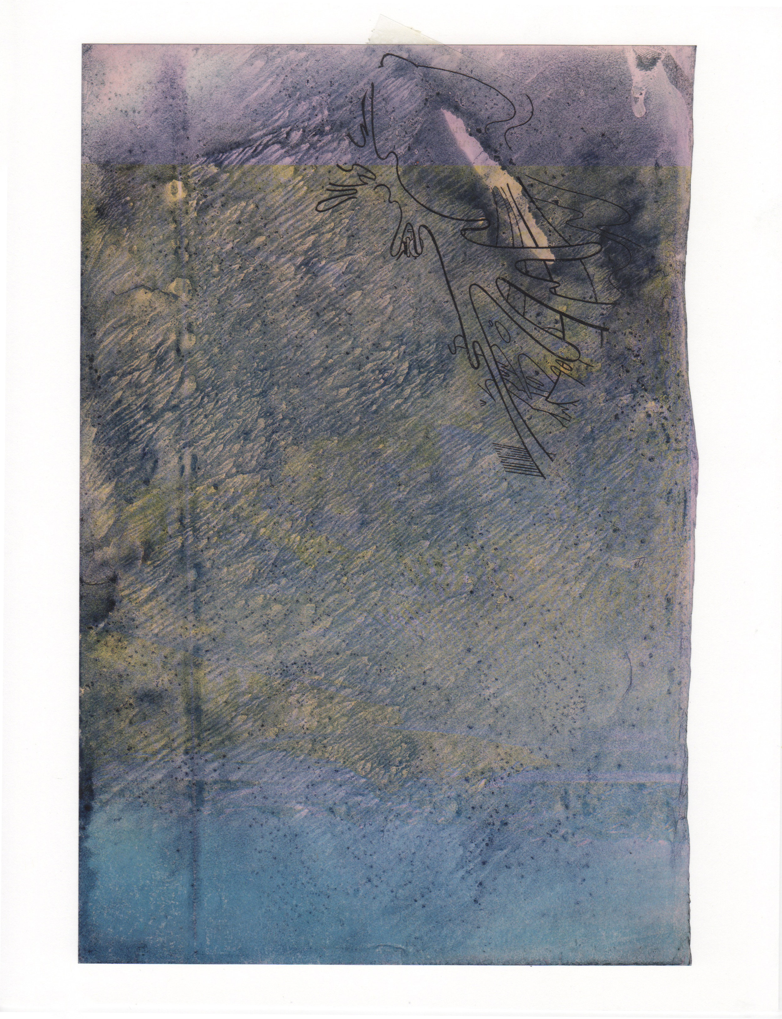 Any Port In A Storm 2015 acrylic mylar archival ink and paper 8 5 x 11