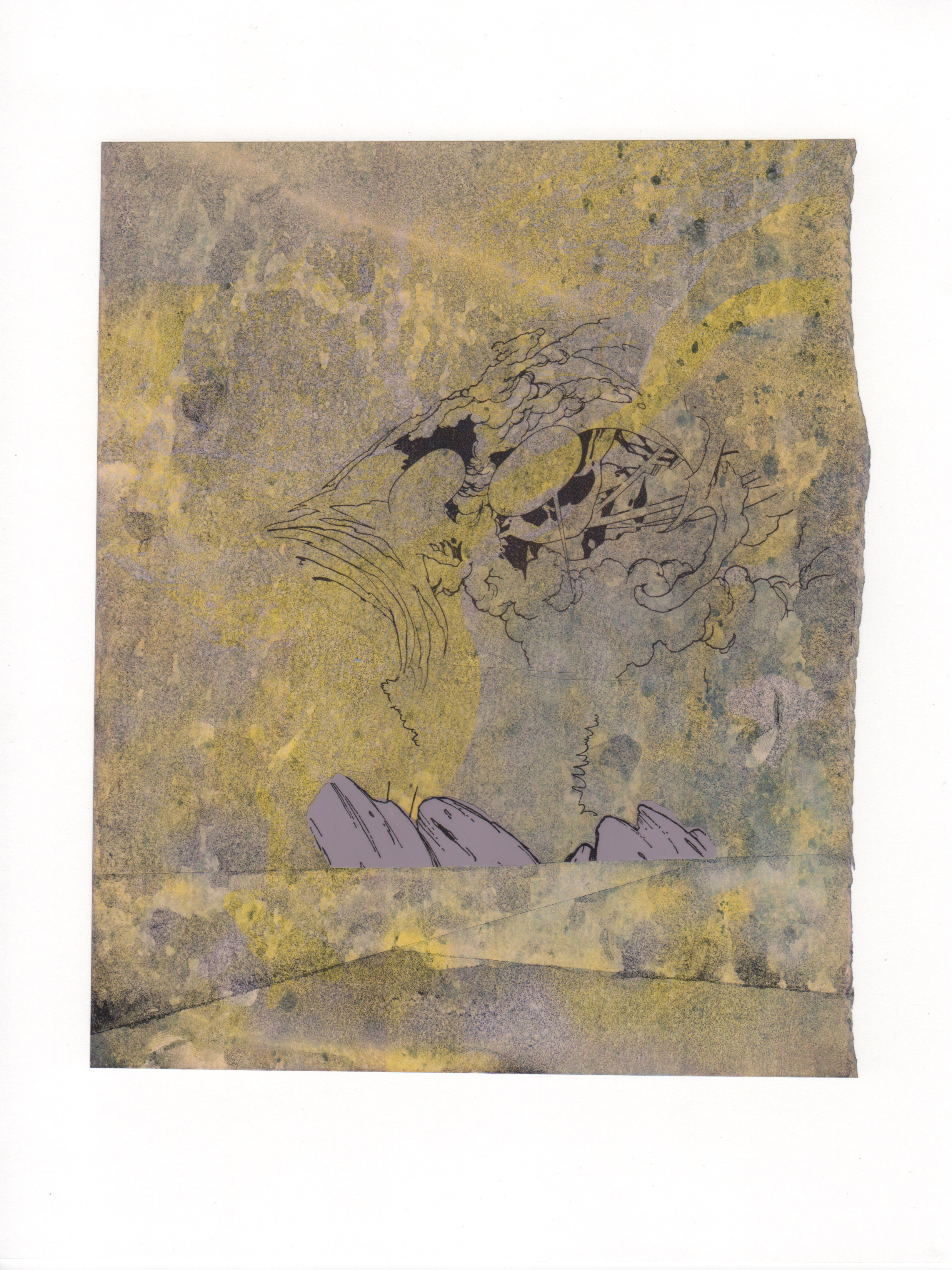 Beautiful Chaos 2015 acrylic mylar archival ink and paper 8 5 x 11