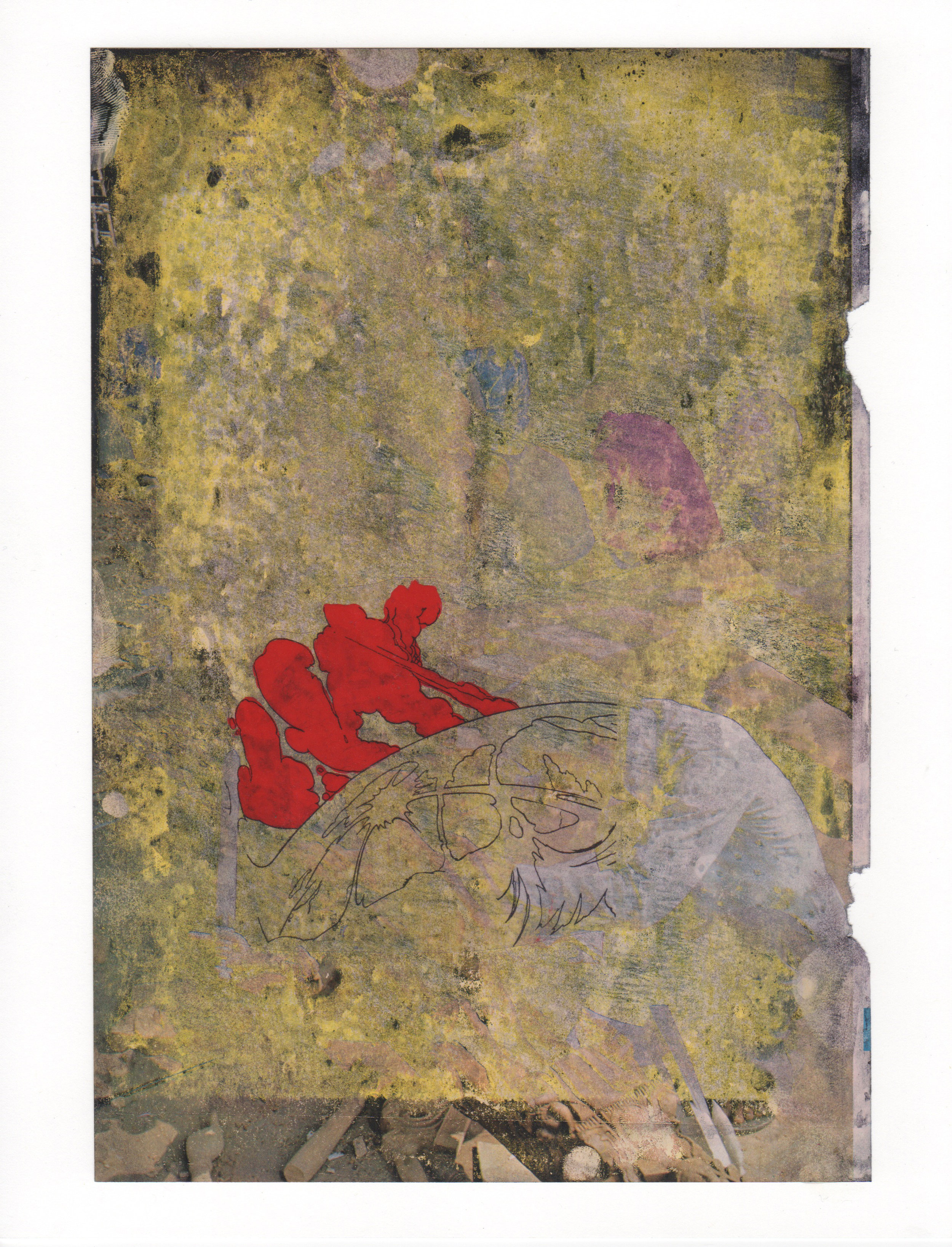 Big Super Action 2015 acrylic mylar archival ink and paper 8 5 x 11-