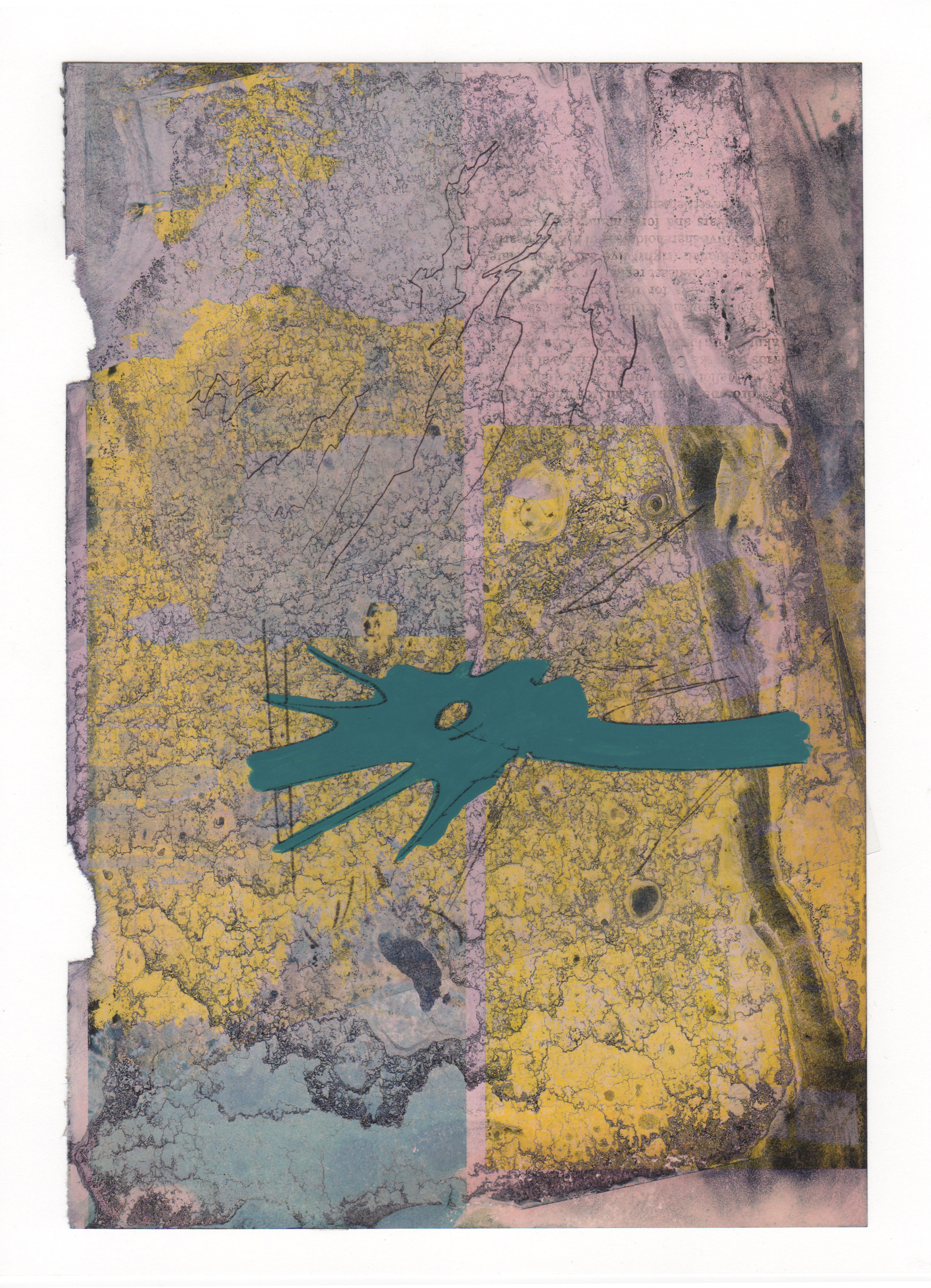 Document With Spaces 2015 acrylic mylar archival ink and paper 8 5 x 11