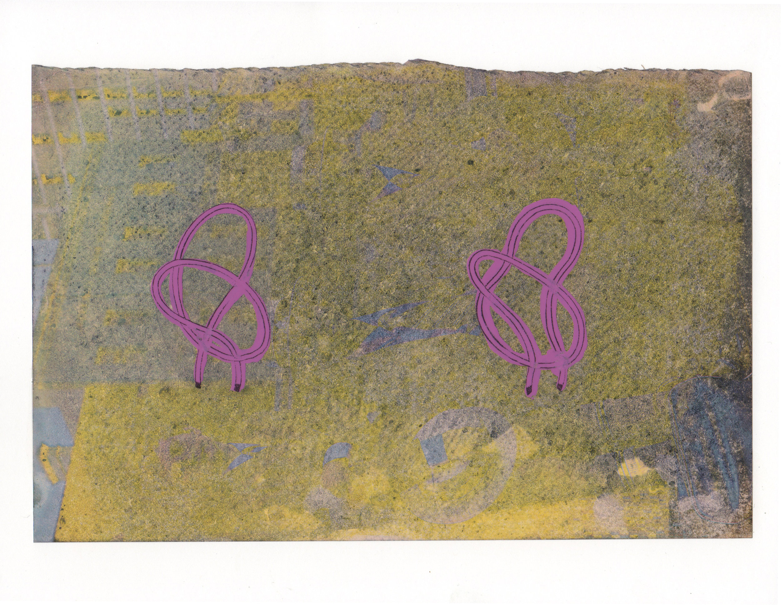 Two Knots 2015 acrylic mylar archival ink and paper 8 5 x 11