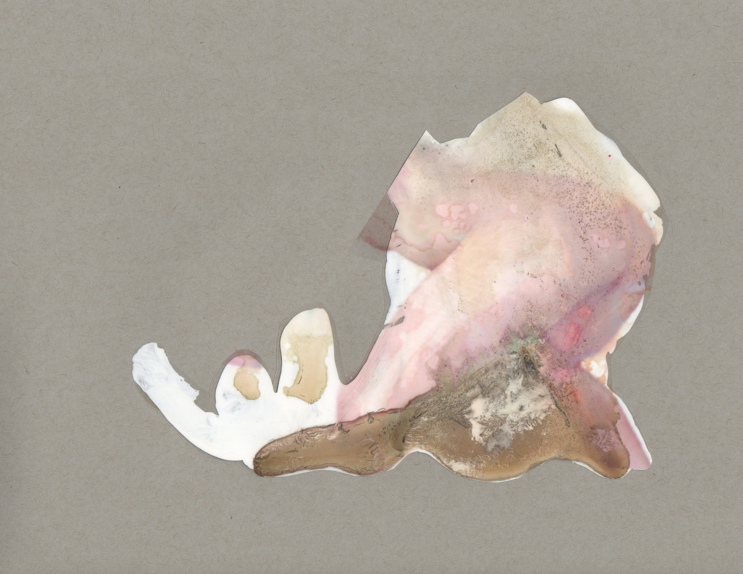 Balancing the Aura, 2014, paint transparency archival ink and paper, 9x12 inches