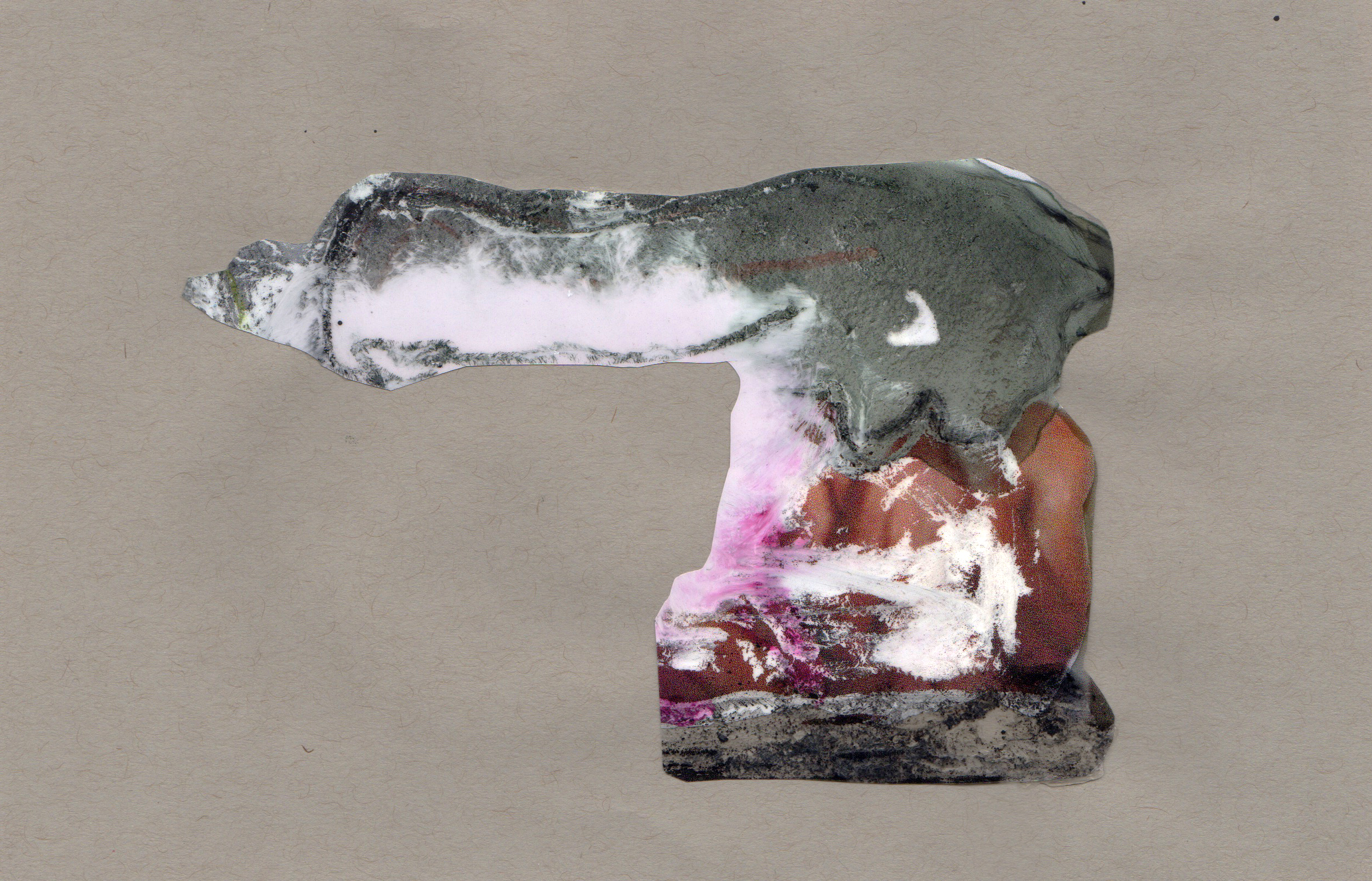Cloud Cannon, 2014, paint transparency archival ink and paper, 8.5x5.5 inches