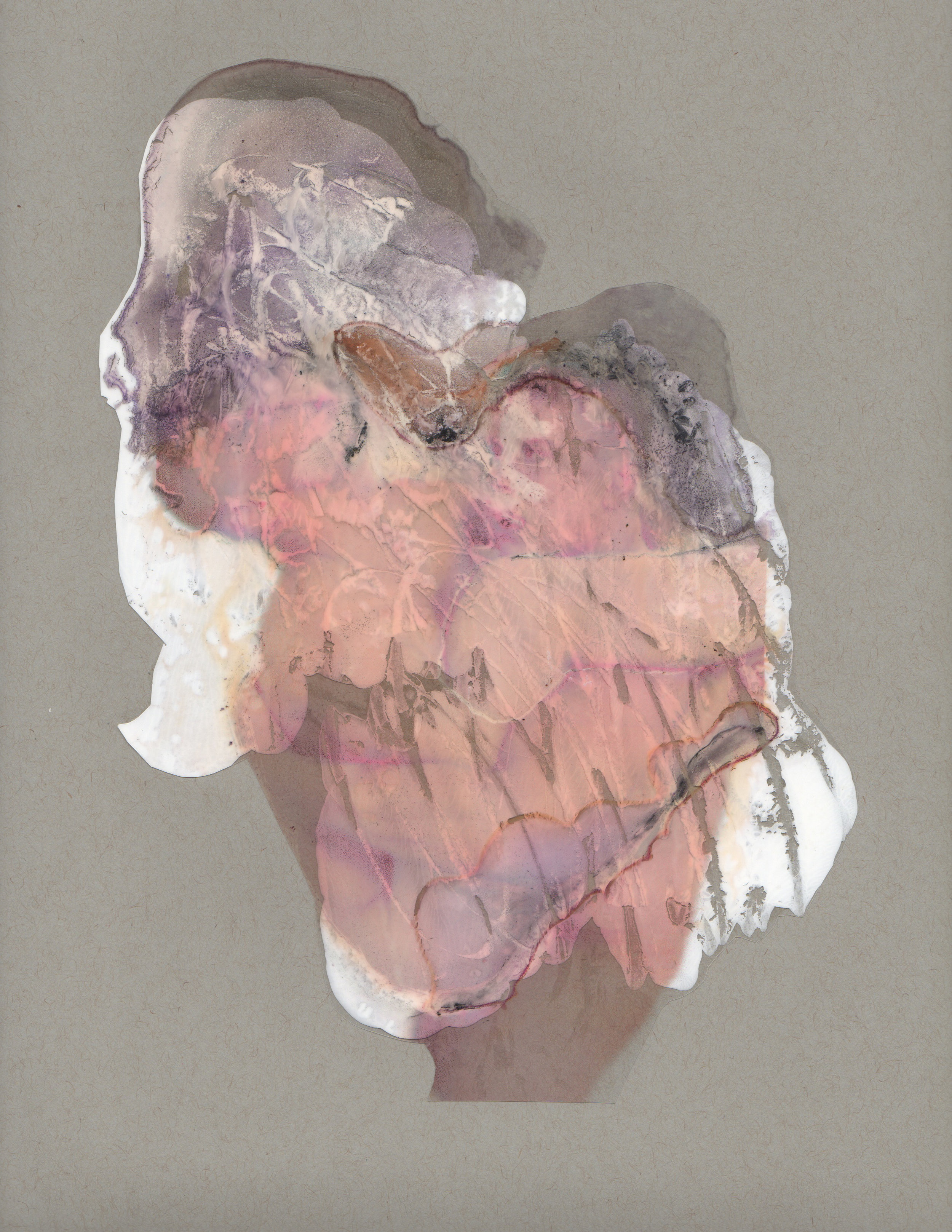 Energy and Matter, 2014, paint transparency archival ink and paper, 9x12 inches