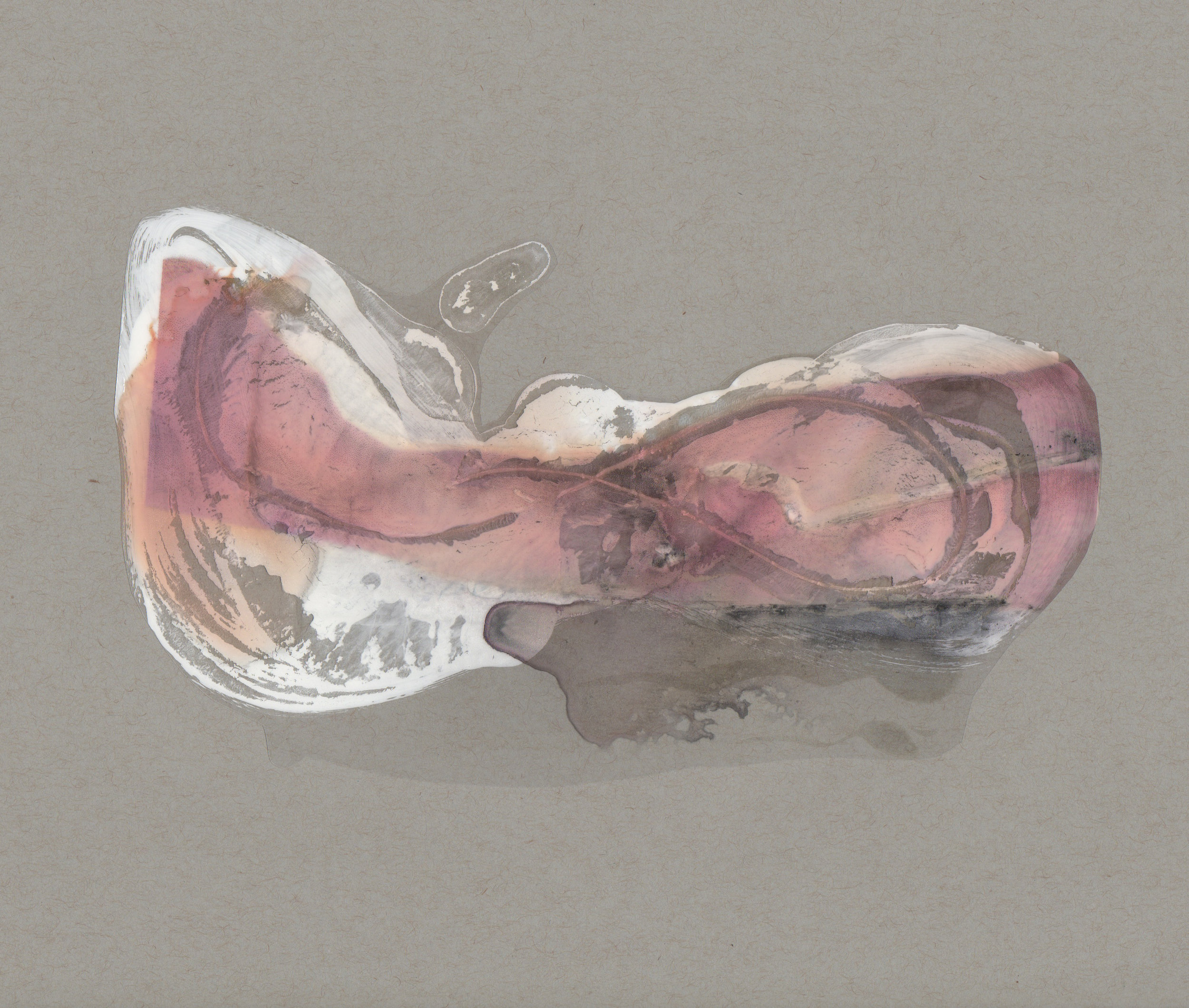 Infinity, 2014, paint transparency archival ink and paper, 9x12 inches