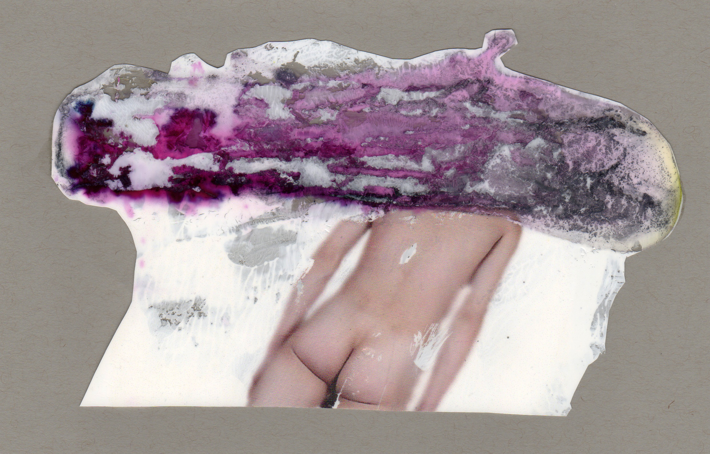 Nimbus, 2014, paint transparency archival ink and paper, 8.5x5.5 inches