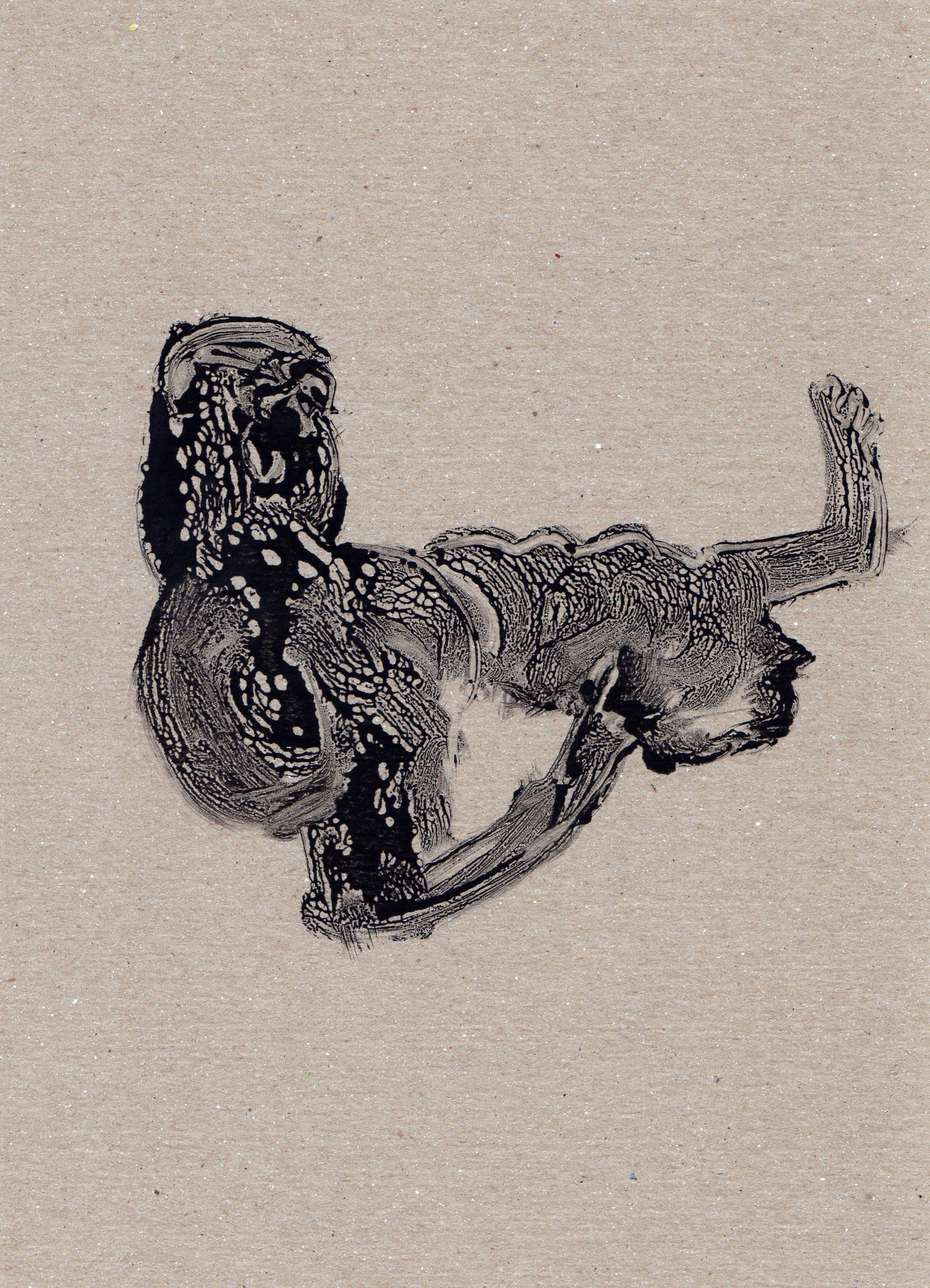 Untitled Rethinking, 2014, gelatin monotype, 11x8 inches