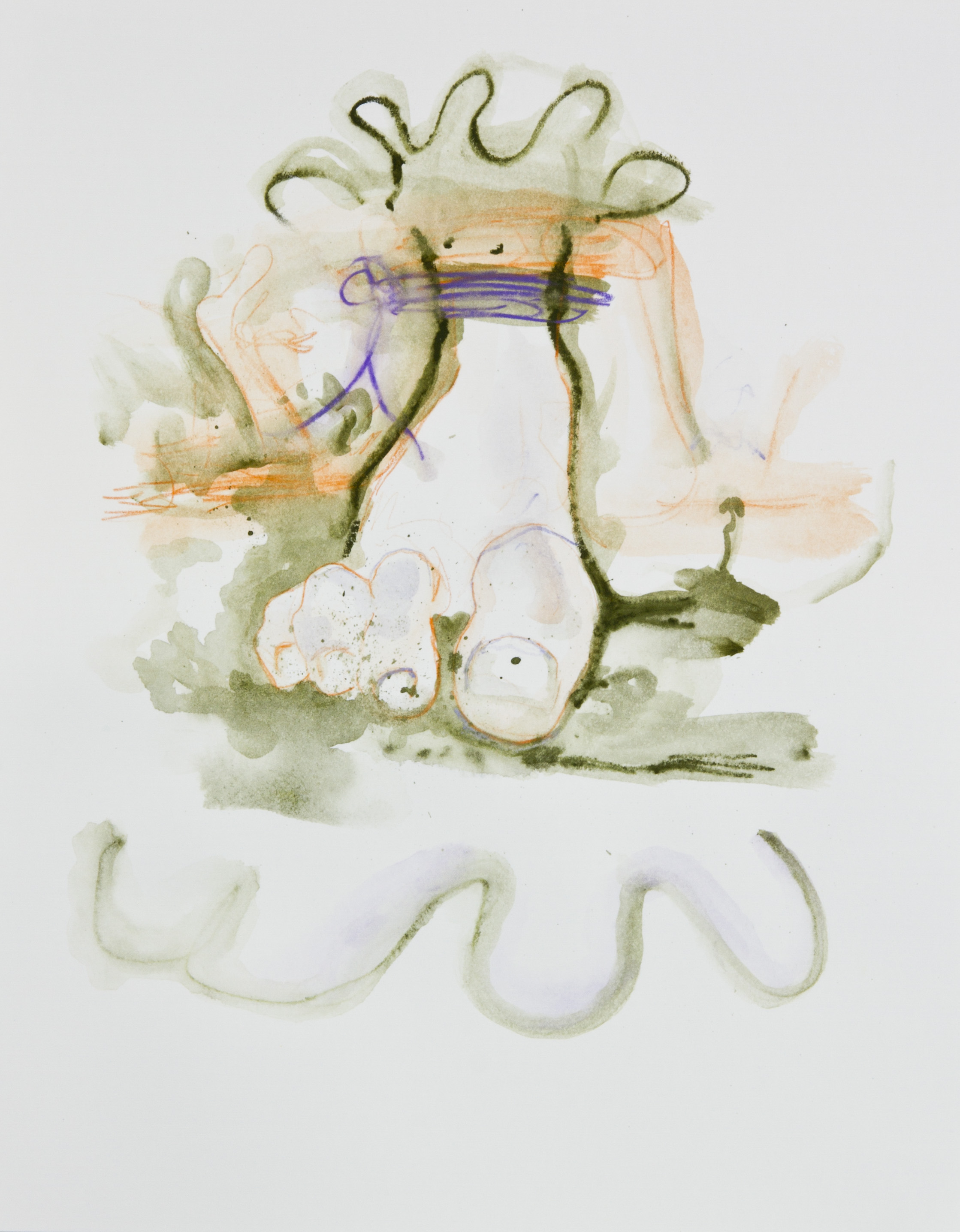 Bound Foot, 2013, graphite, crayon and watercolor pencil on paper, 11x14 inches