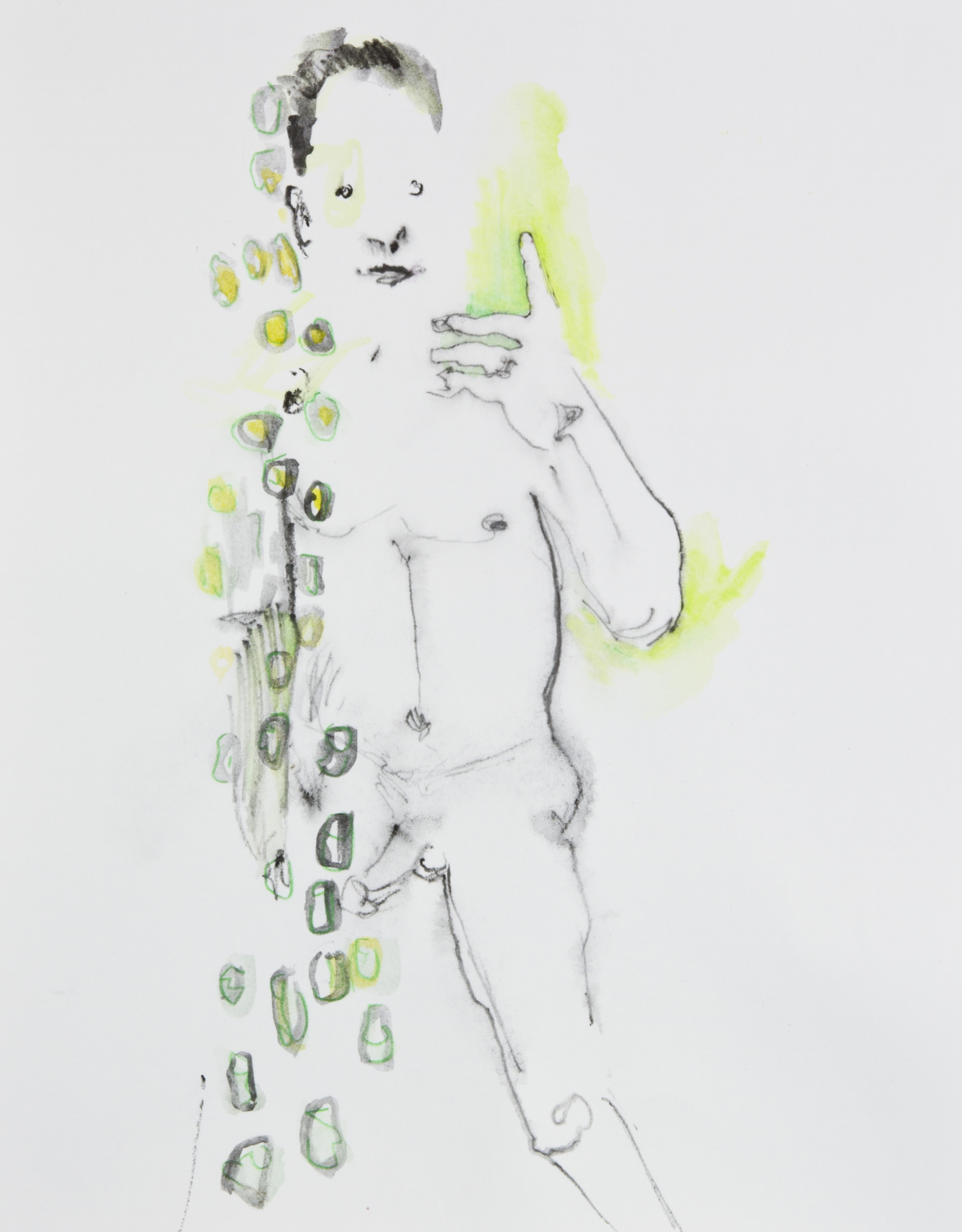 Left Tingle, 2013, graphite, crayon and watercolor pencil on paper, 11x14 inches