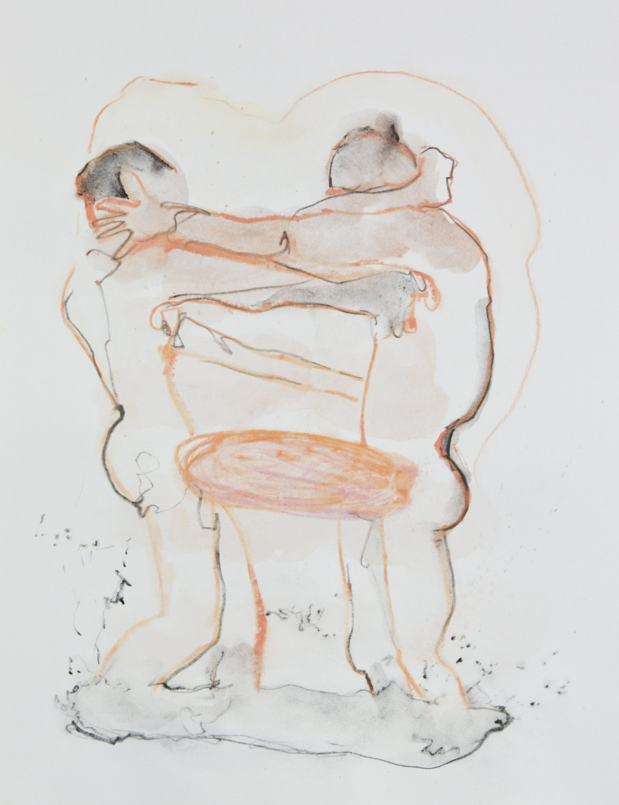 Love Dance, 2013, graphite, crayon and watercolor pencil on paper, 11x14 inches