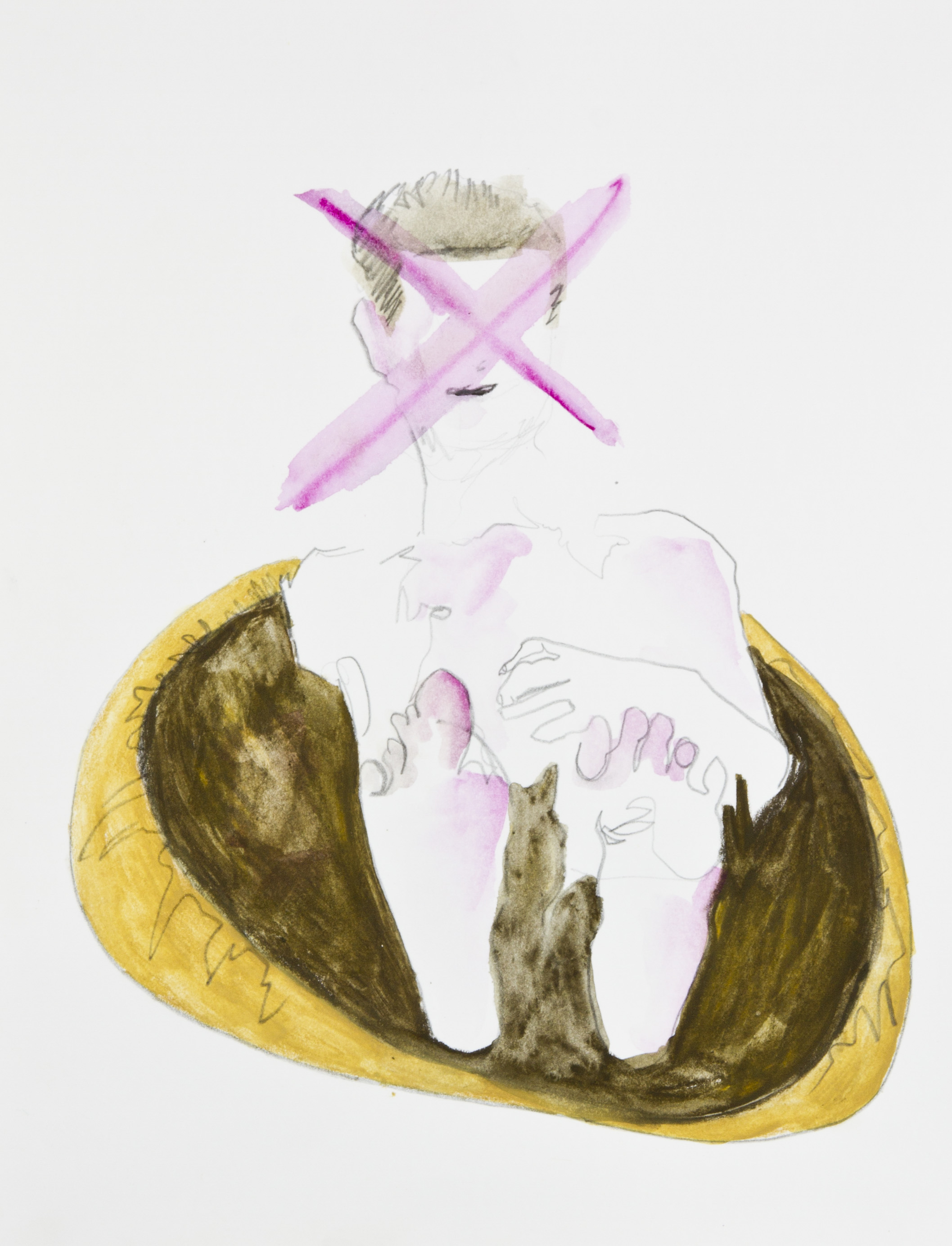 No To The Void 2013, graphite, crayon and watercolor pencil on paper, 11x14 inches