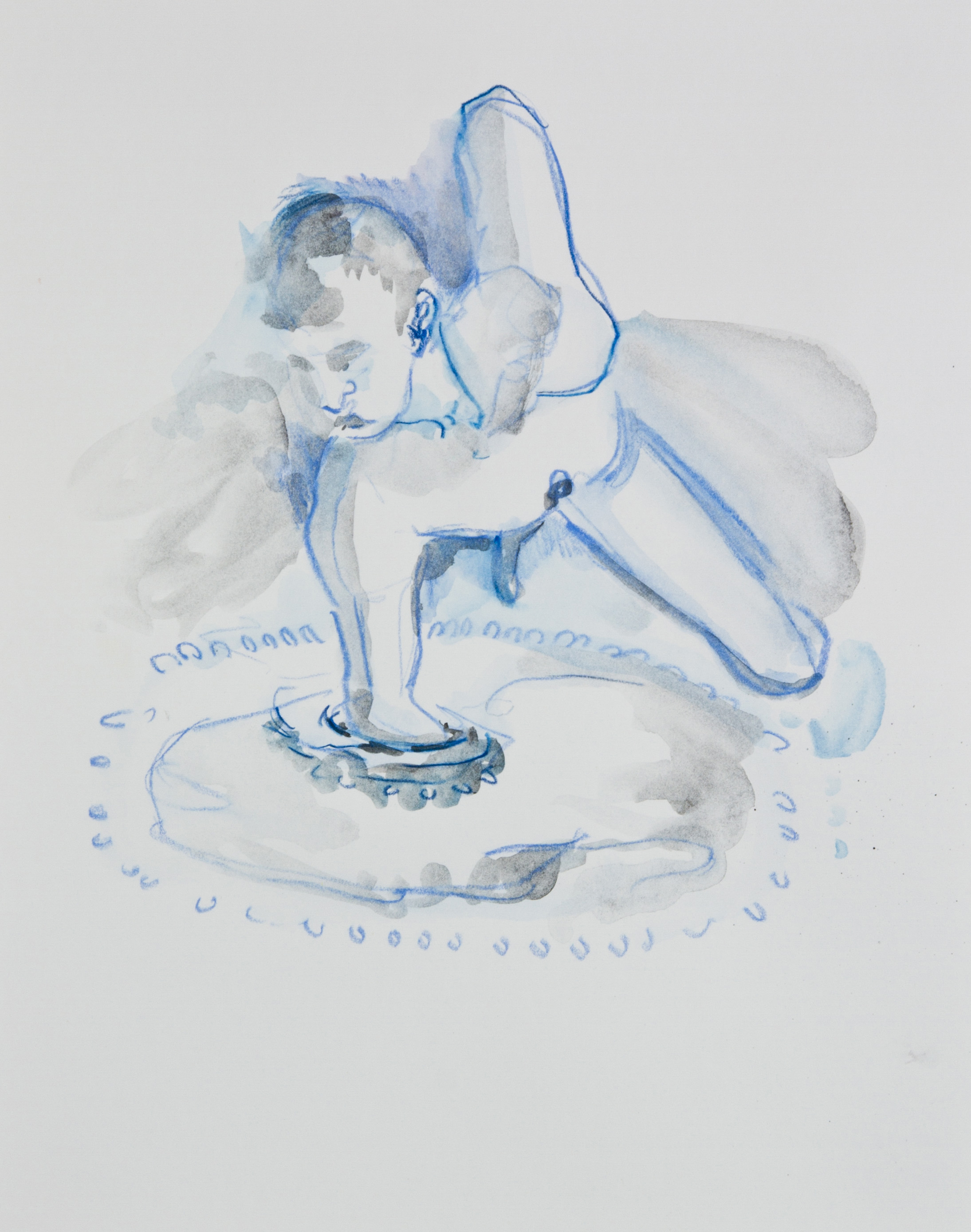 The Pool, 2013, graphite, crayon and watercolor pencil on paper, 11x14 inches