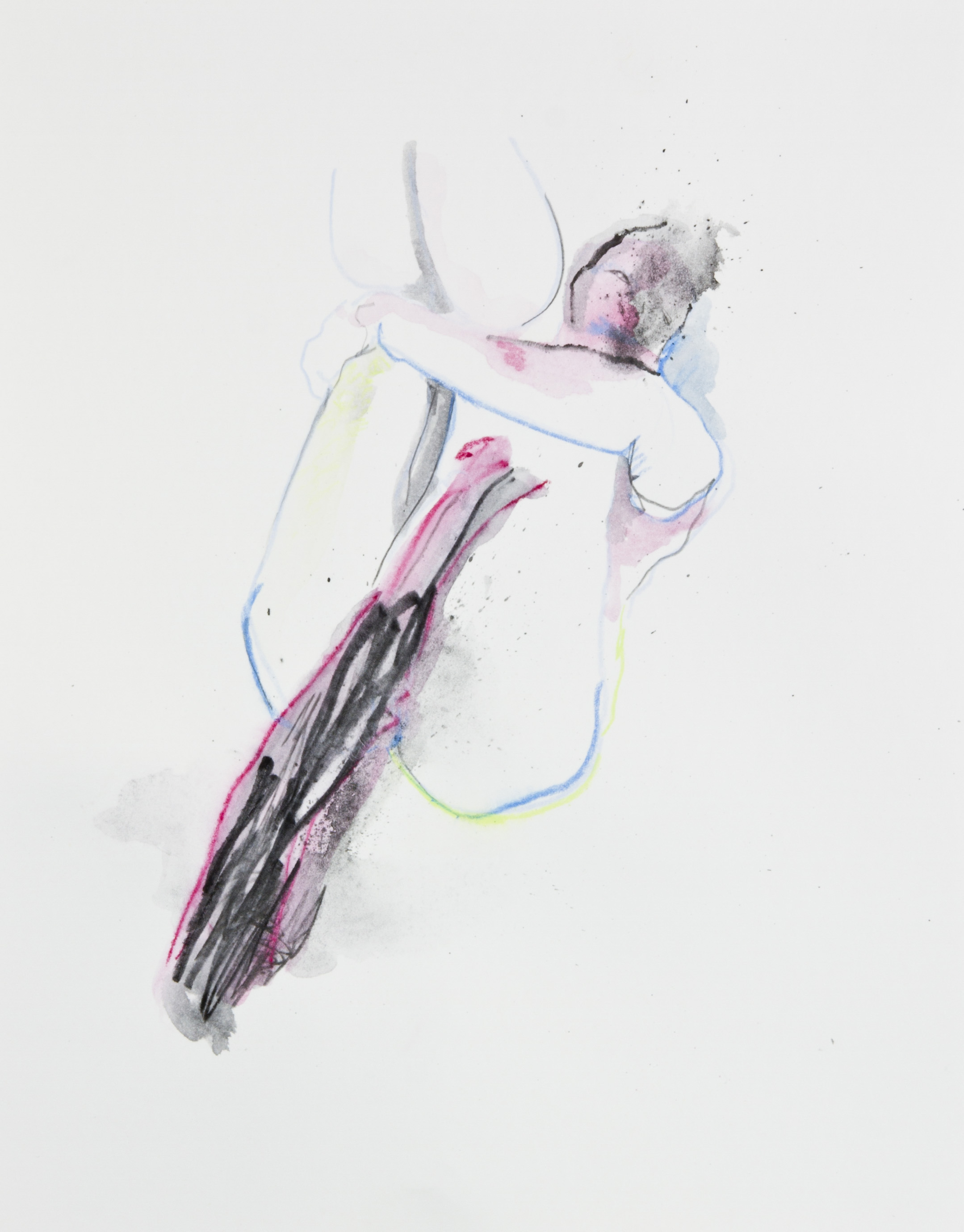 Void Drawers, 2013, graphite, crayon and watercolor pencil on paper, 11x14 inches