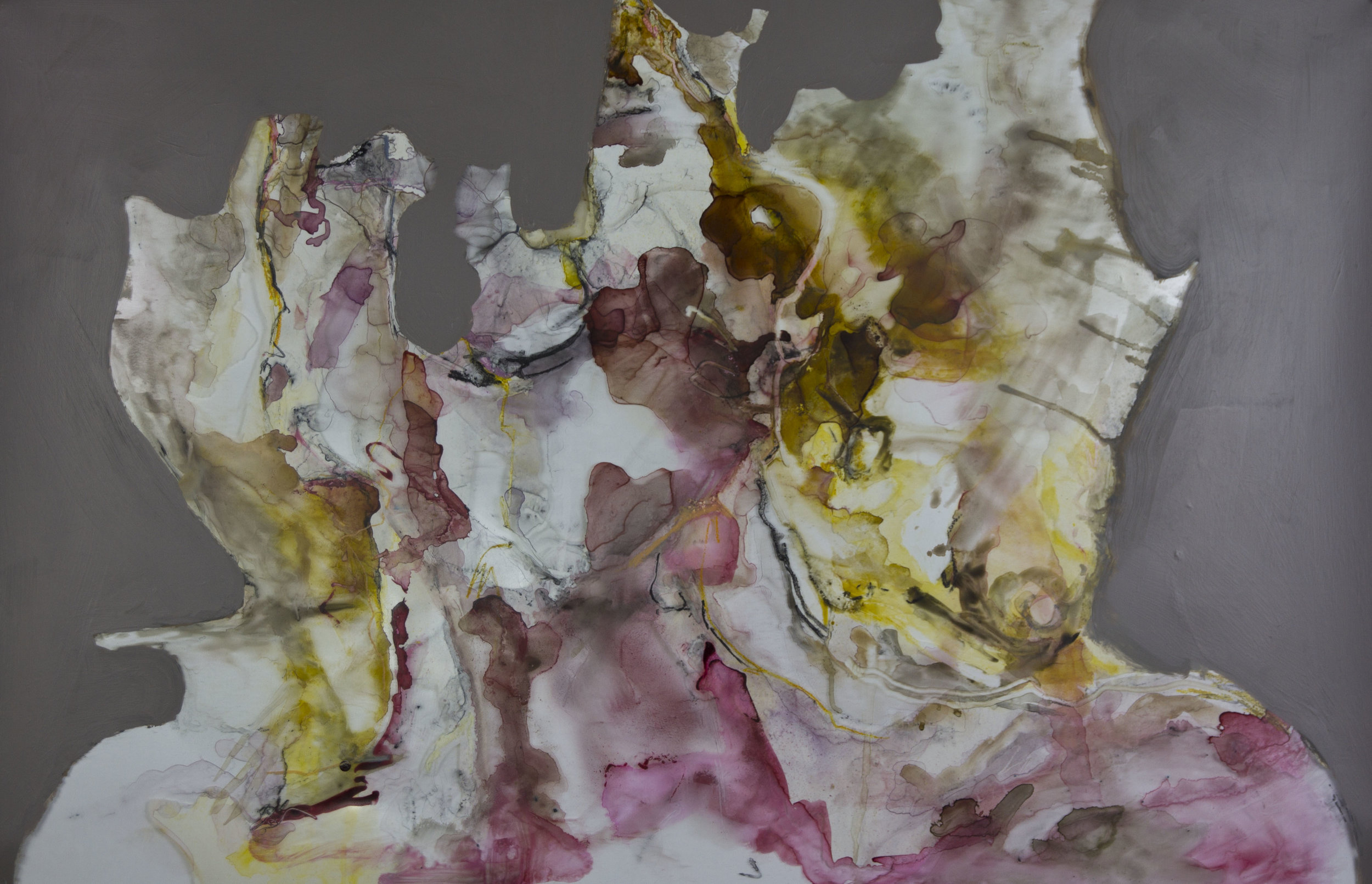 Membrane Apparatus, 2011, watercolor and Acrylic on mylar, 40x50 inches