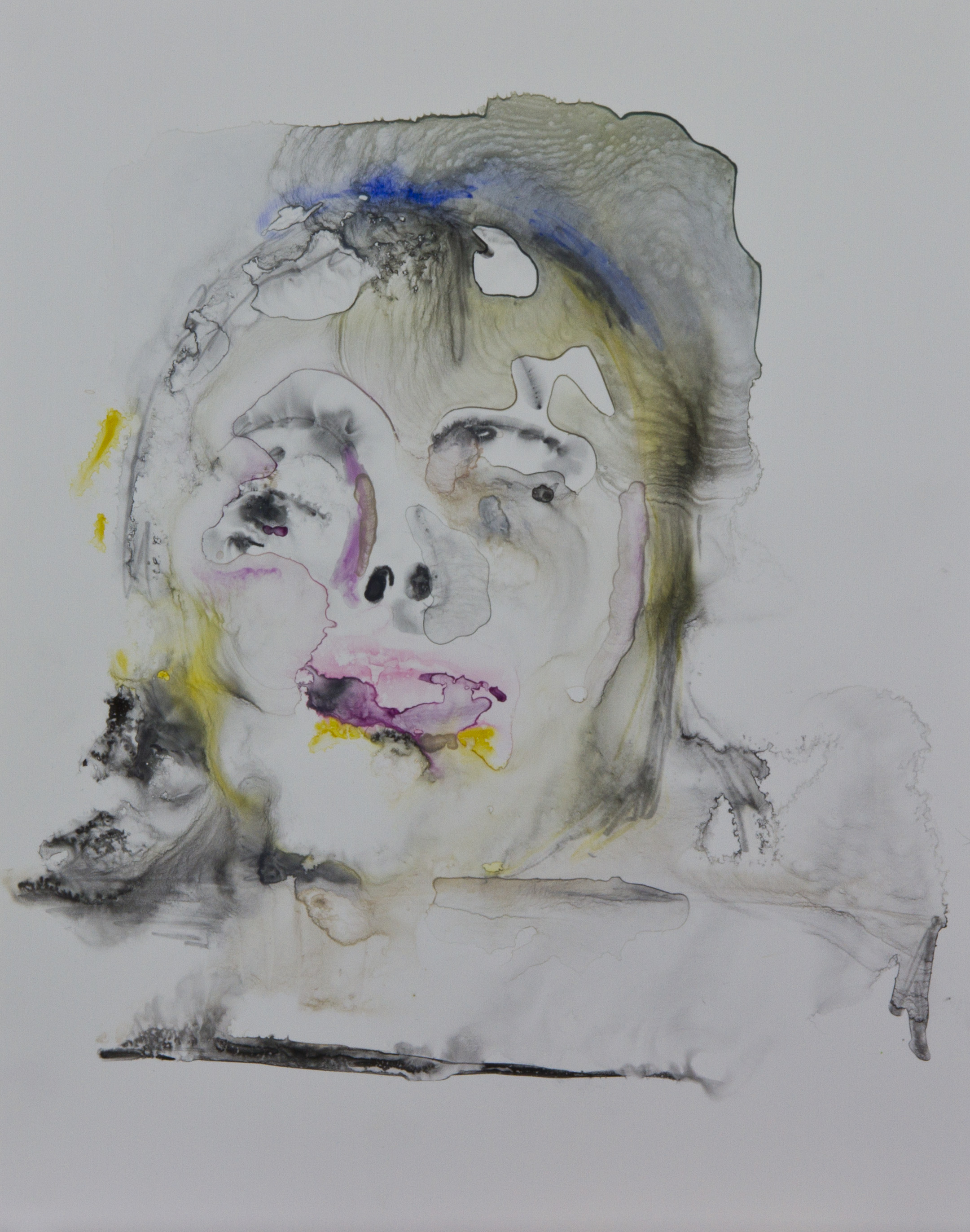 Specimen 4, 2011, watercolor on polypropylene, 11x14 inches
