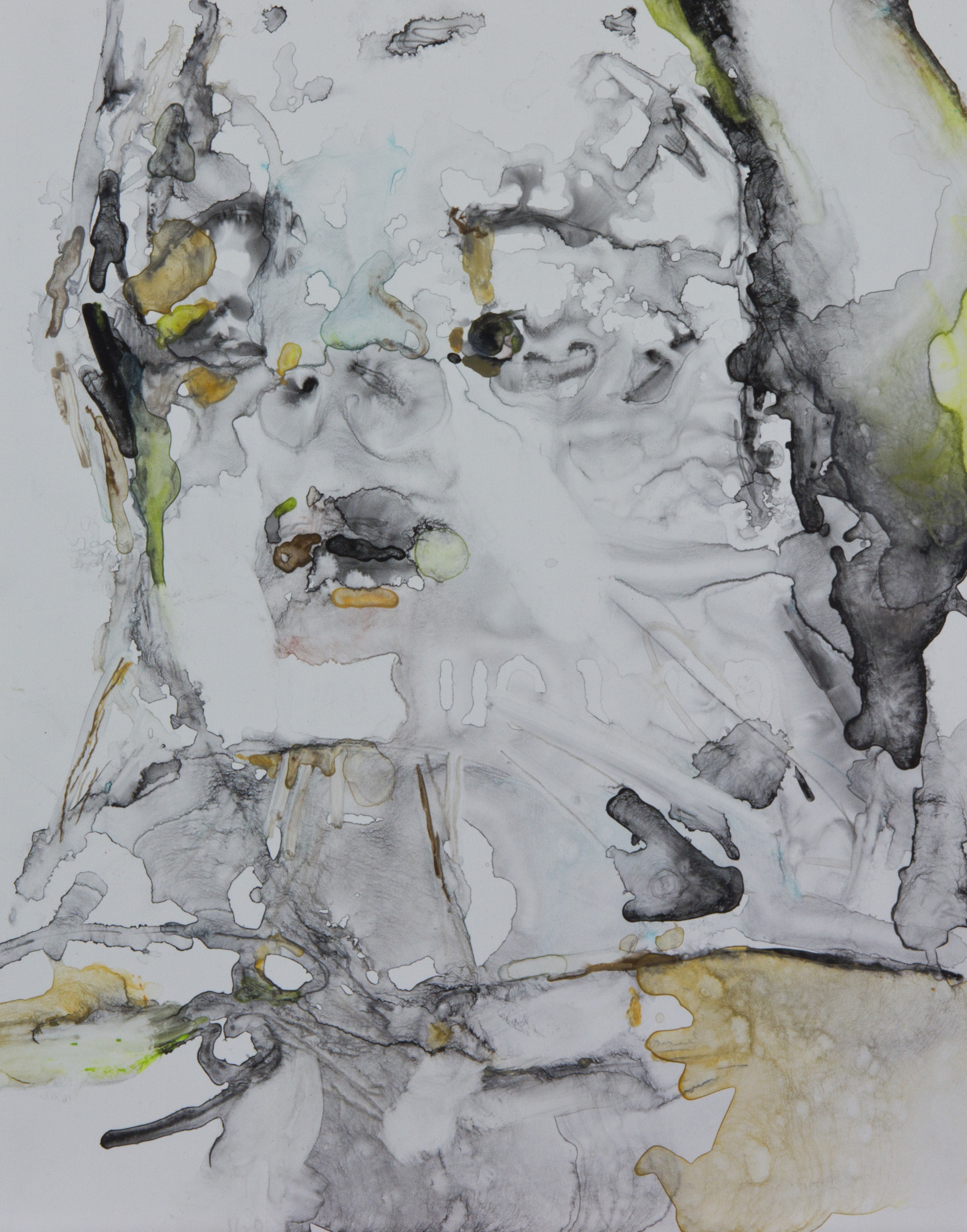 Tell Me If I Liked It Loved It, 2011, watercolor on polypropylene, 11x14 inches