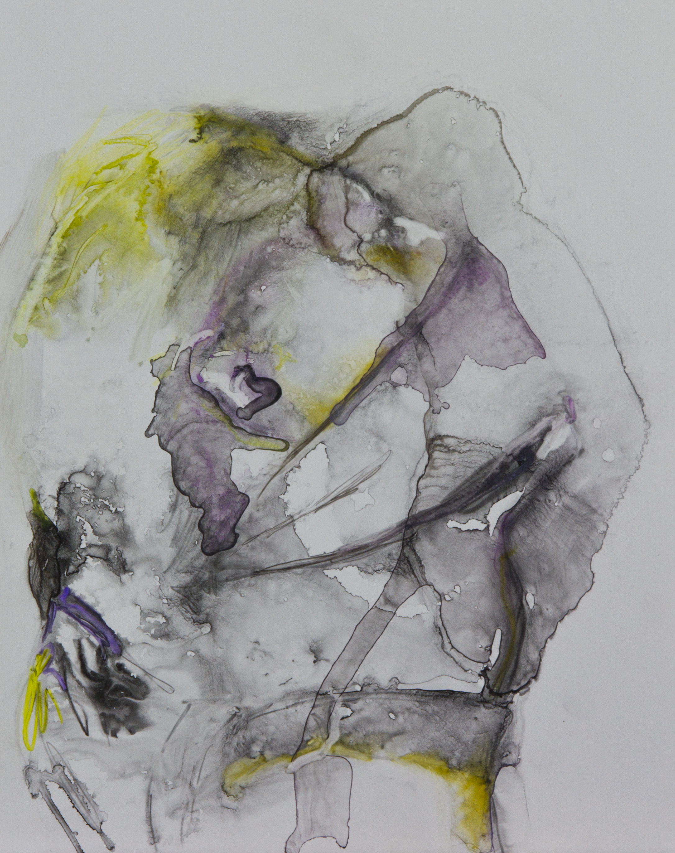 Wouldn't Touch Me Like That, 2011, watercolor o polypropylene, 11x14 inches