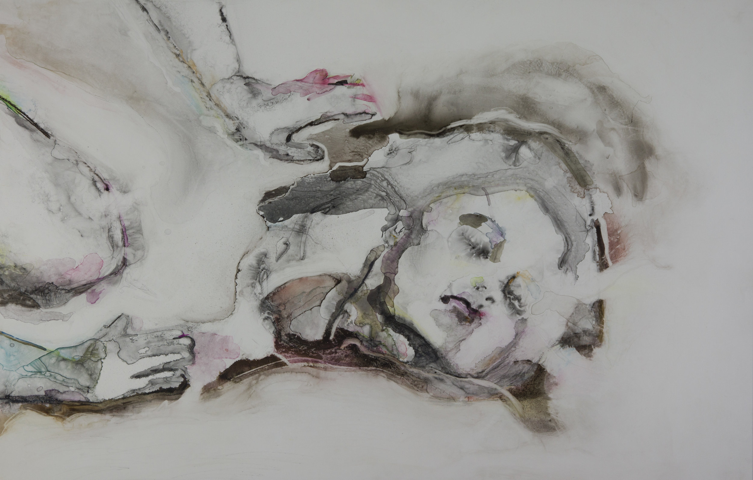 This Face Is Free, 2011, watercolor on polypropylene, 26x40 inches