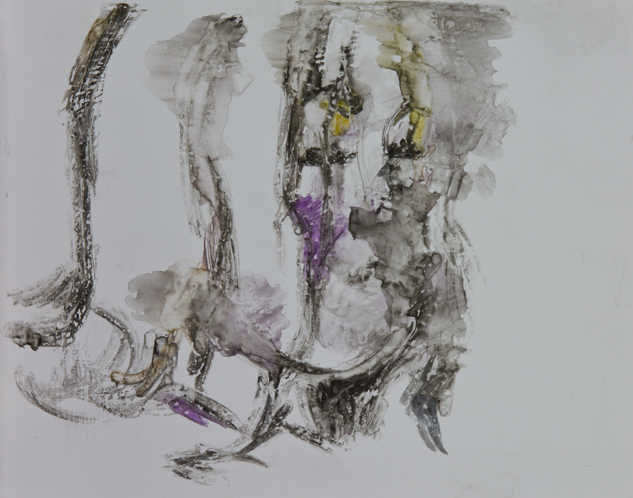 Acts 2, 2010, watercolor monotype on polypropylene, 11x14 inches