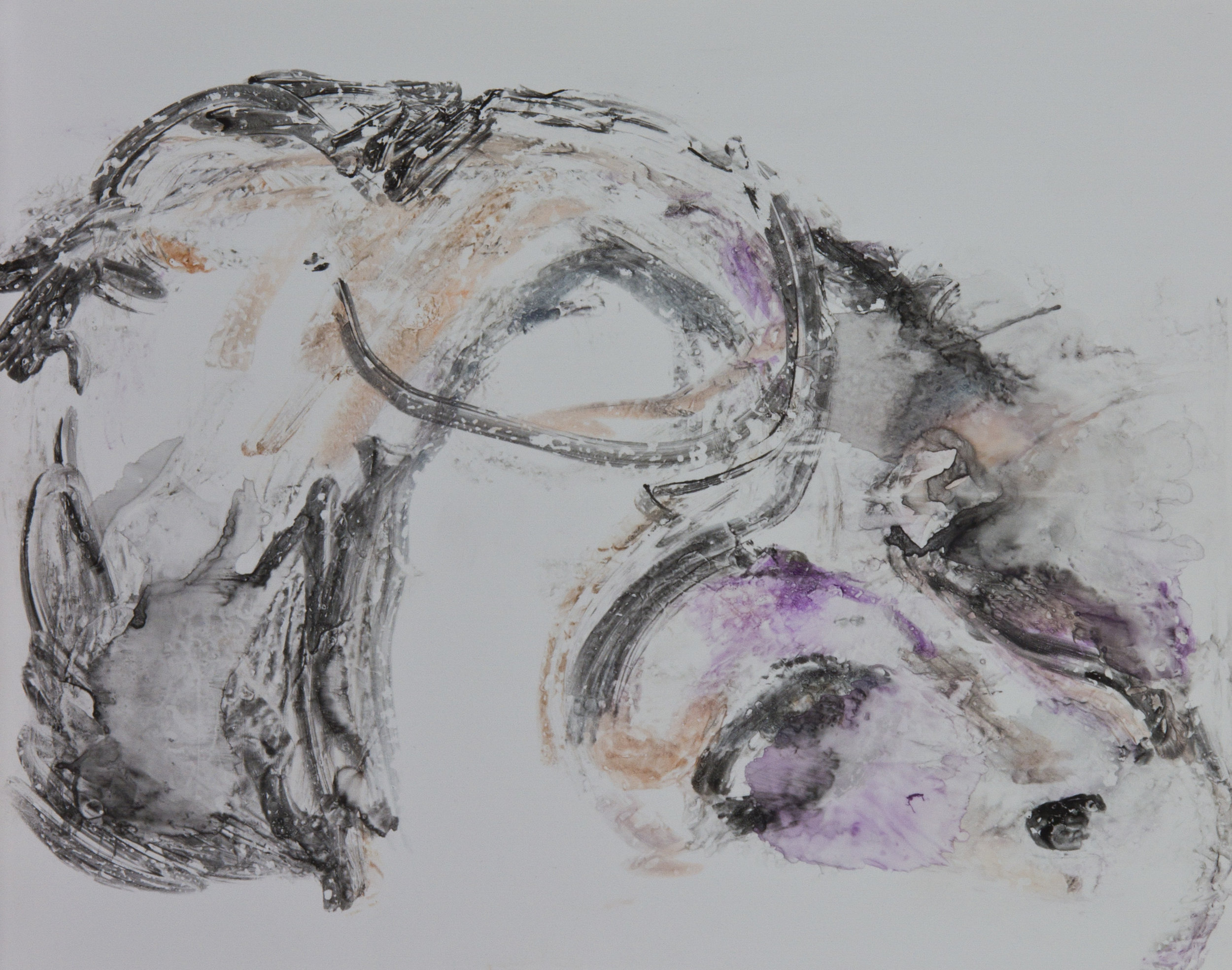 Acts 12, 2010, watercolor monotype on polypropylene, 11x14 inches