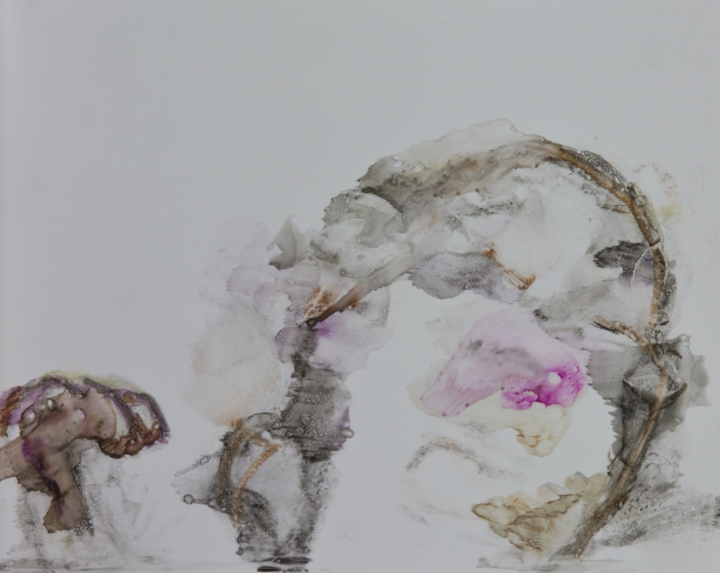 Acts 15, 2010, watercolor monotype on polypropylene, 11x14 inches